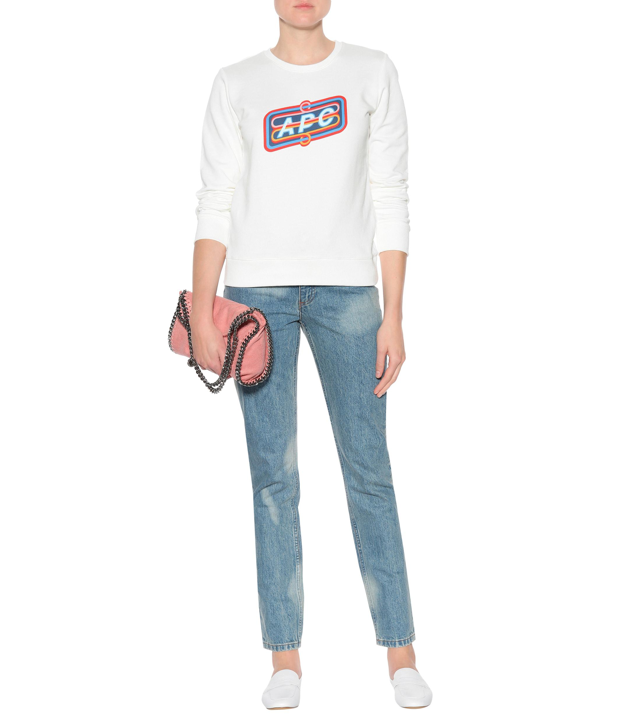 A.P.C. Denim Droit High-waisted Jeans in Blue