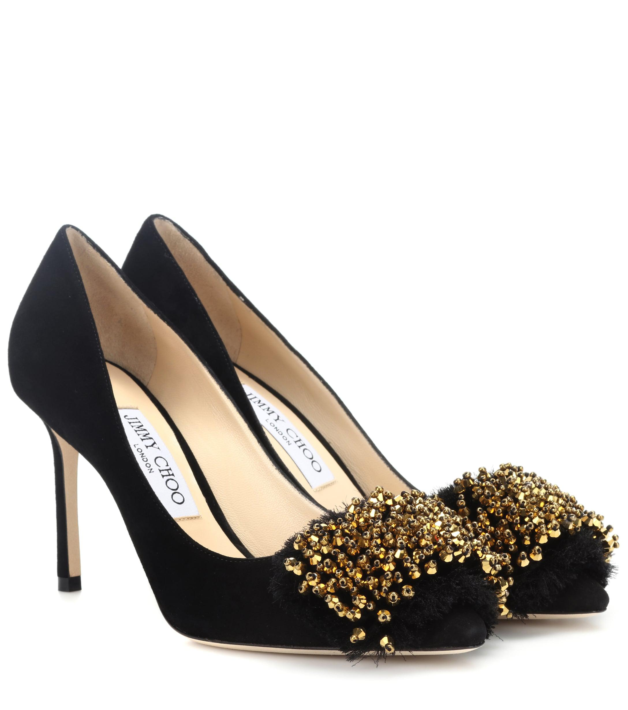 pretty nice e9037 562d7 jimmy-choo-blackantique-gold-Thelma-85-Suede-Pumps.jpeg