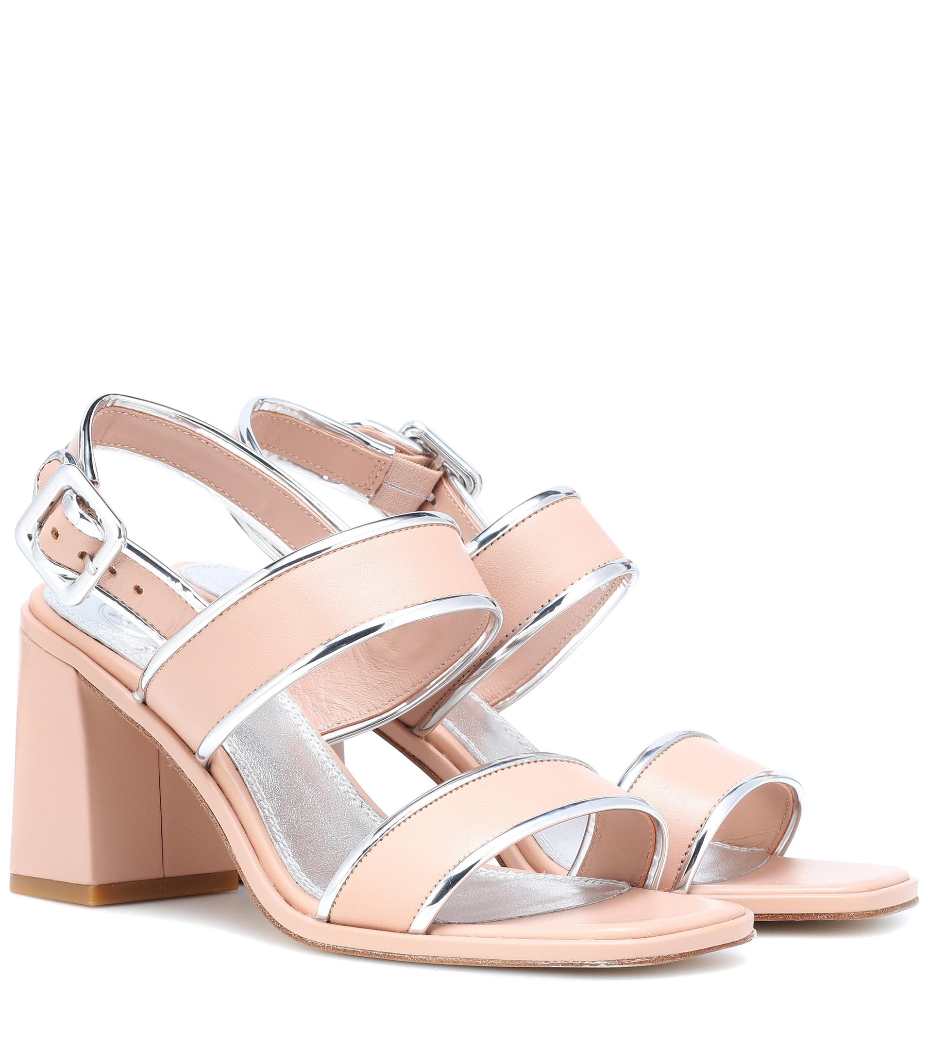 Tory Burch Delaney leather sandals with mastercard sale online IC7SHKyJjM