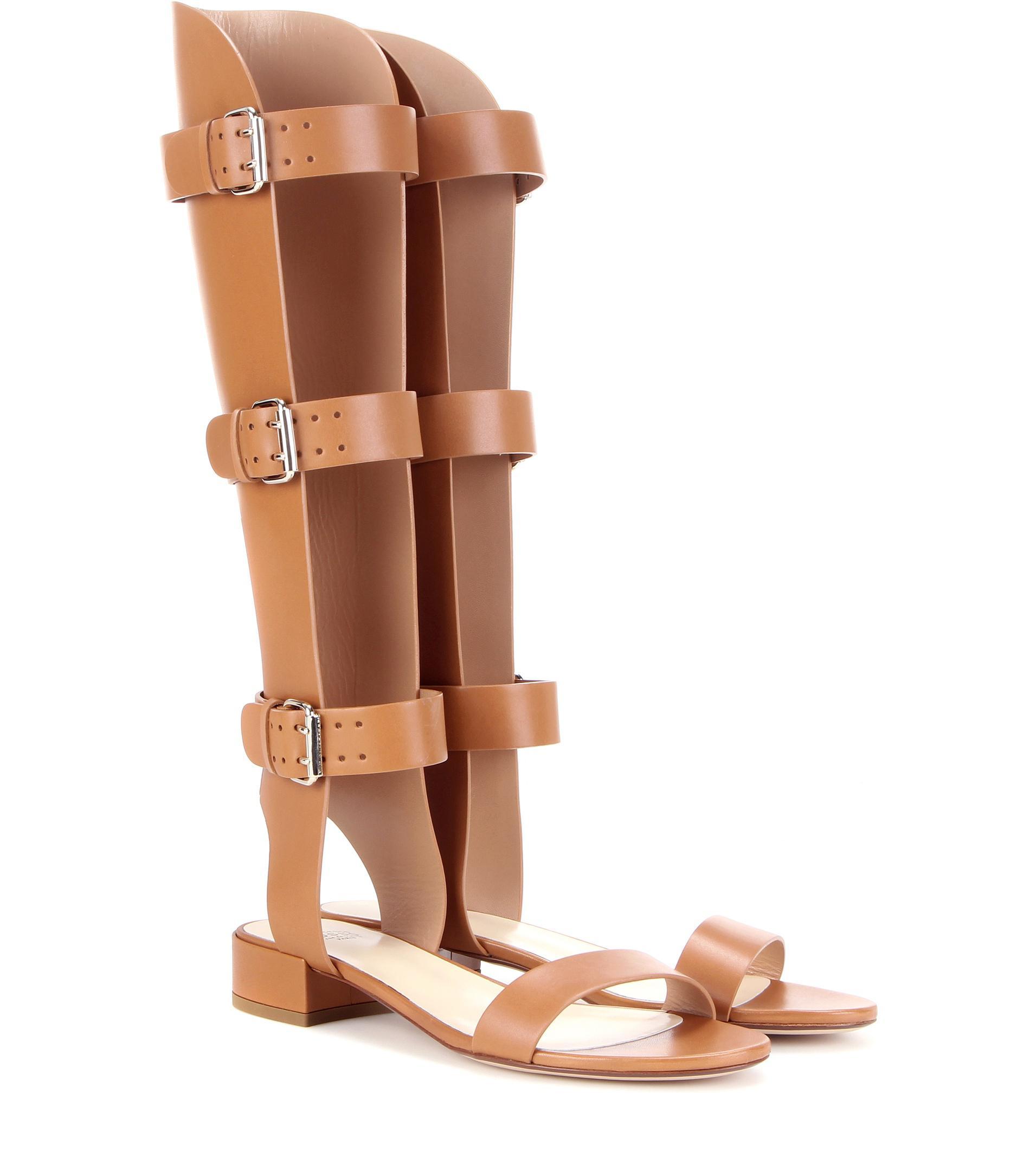 Leather gladiator sandals Francesco Russo qIpERzkM