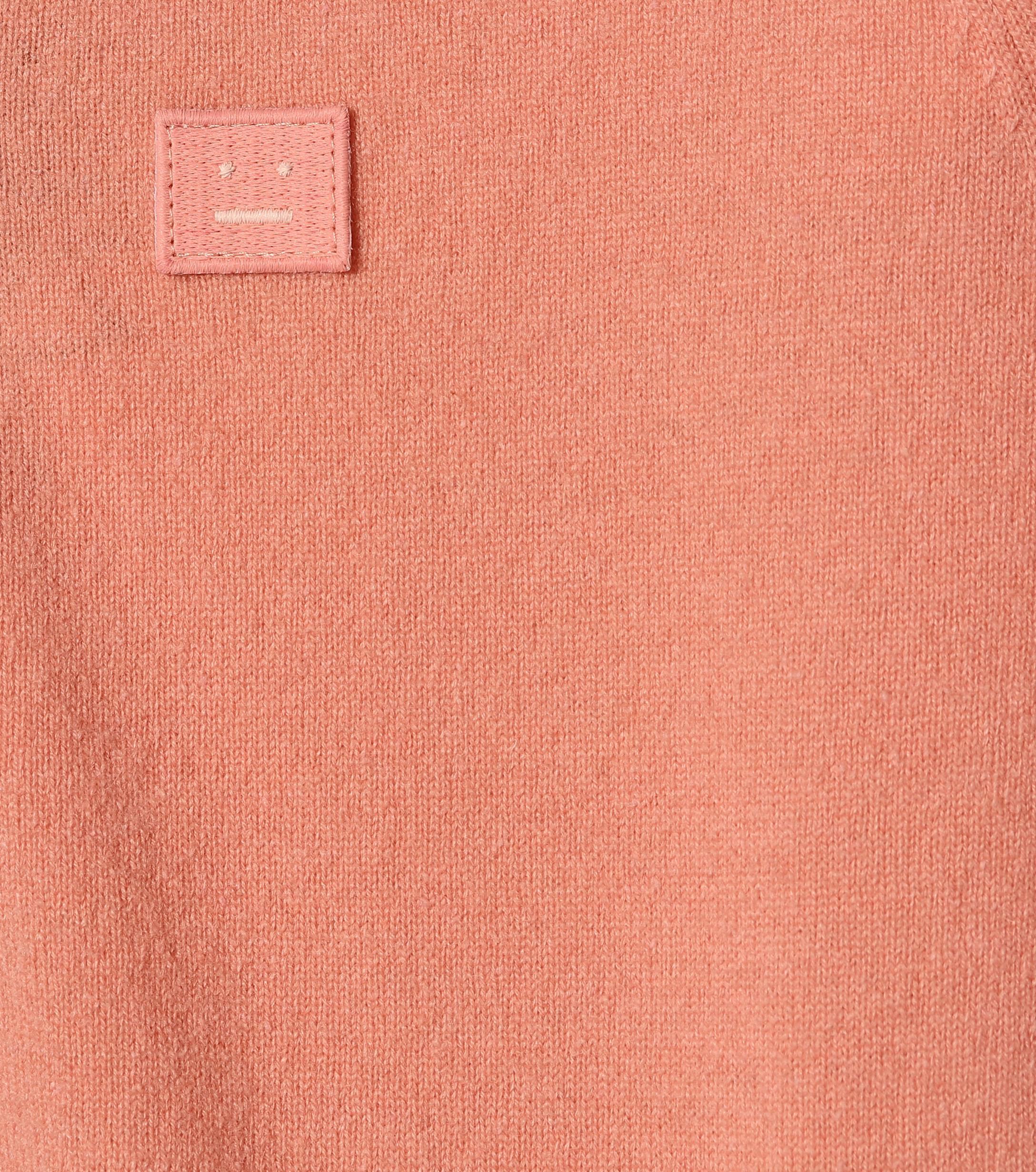 Cárdigan Neve Face de lana Acne Studios de color Rosa