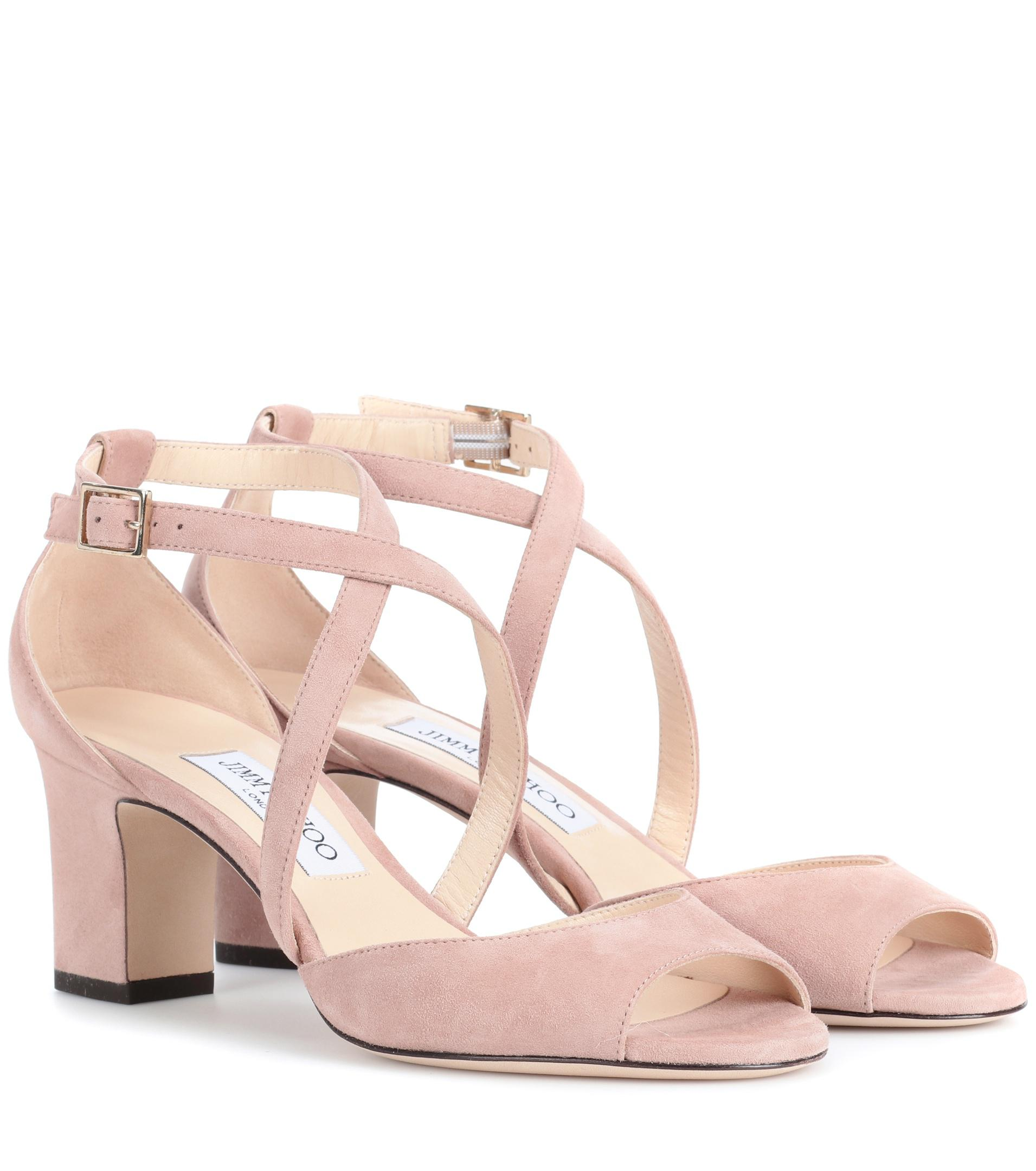Jimmy choo Carrie 65 suede sandals QPi3wLkNa0