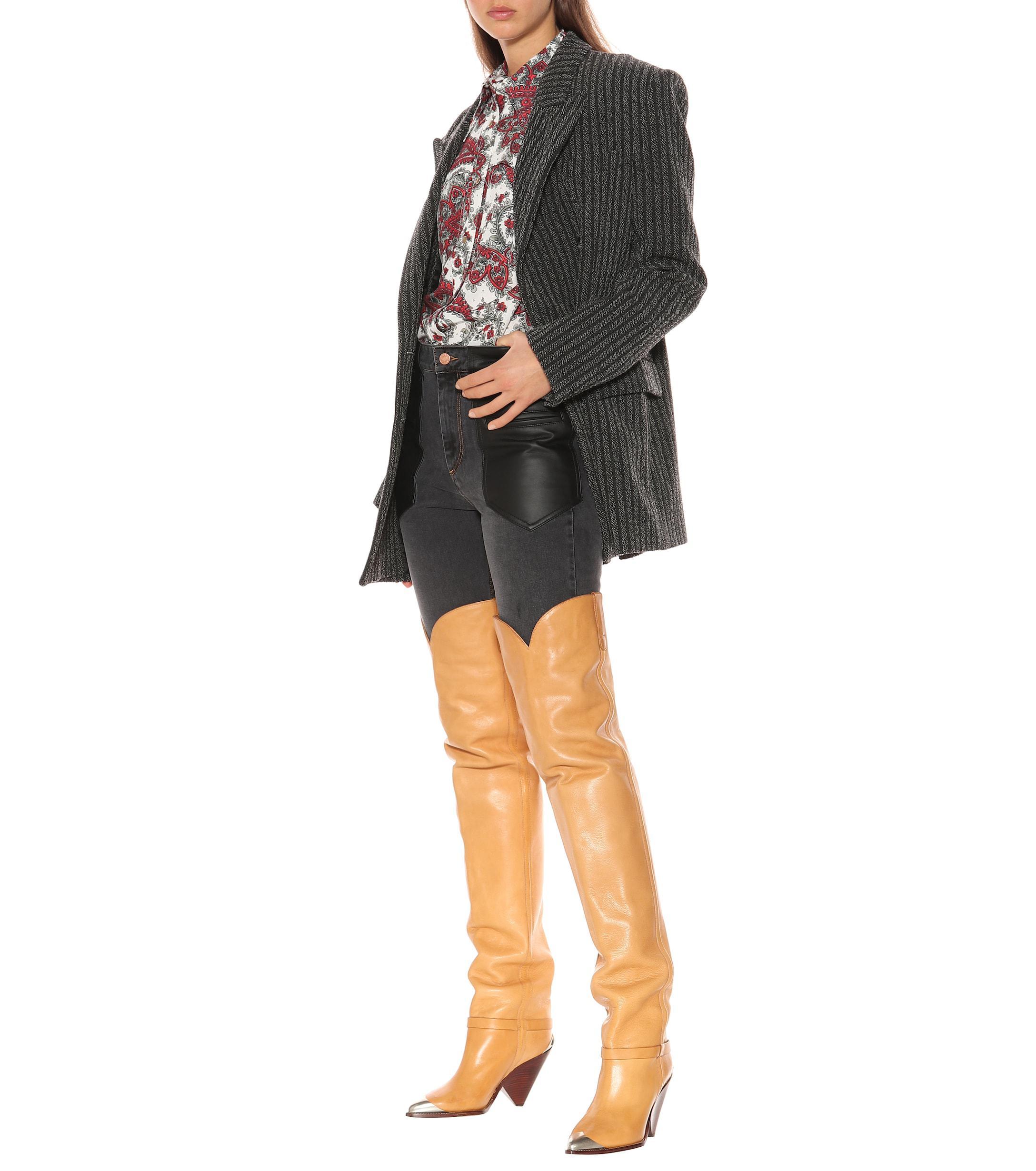 0cea9d5e948 Isabel Marant - Natural Lafsten Over-the-knee Boots - Lyst. View fullscreen