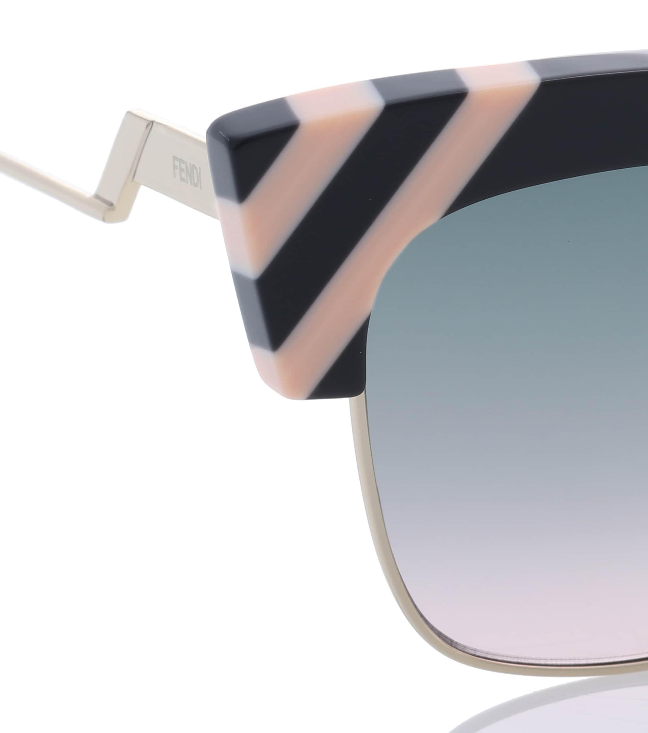b3a0d1ef7d Fendi - Black Waves Sunglasses - Lyst. View fullscreen