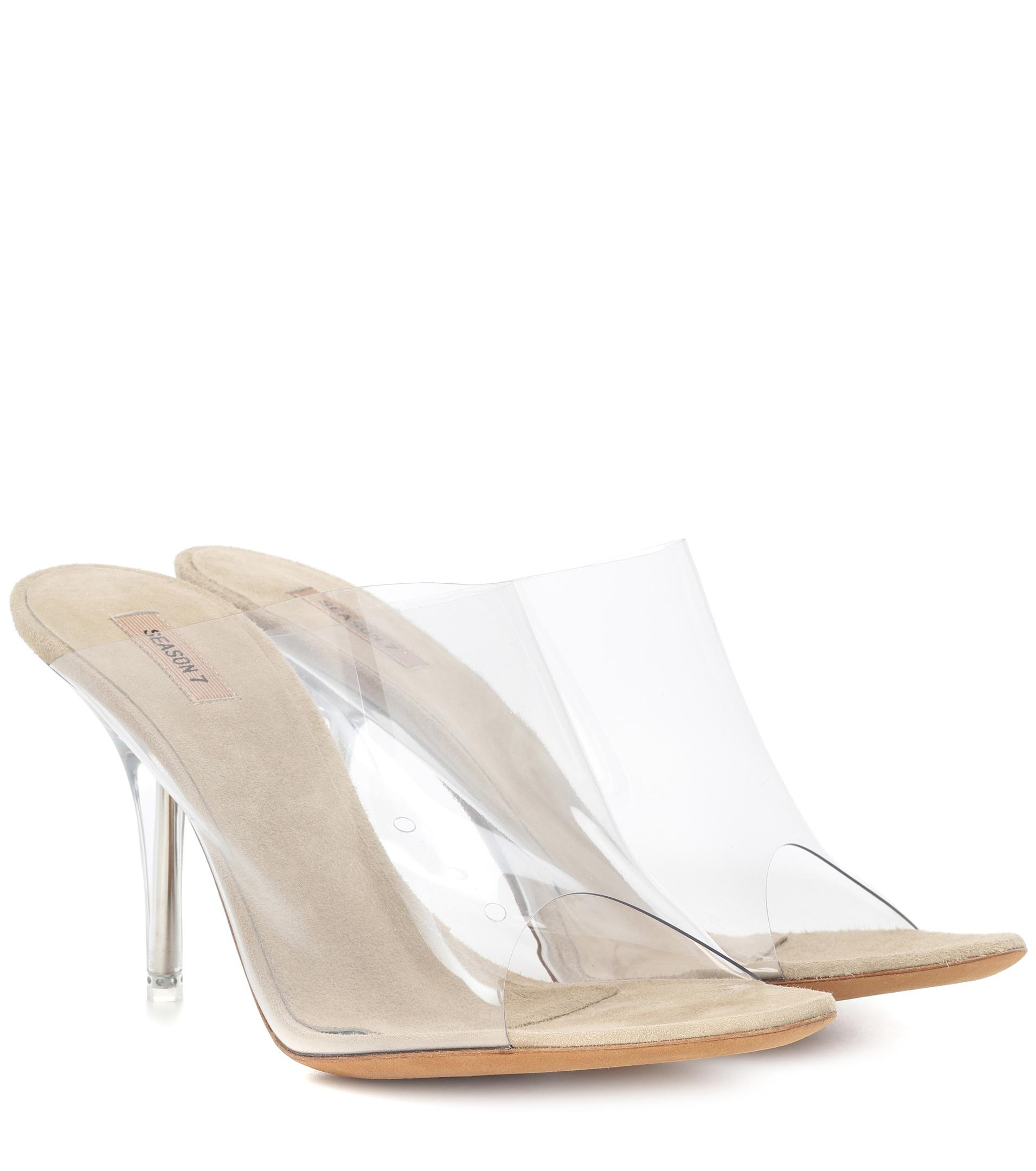 c81418492a8 Yeezy Transparent Mules (season 7) in White - Lyst