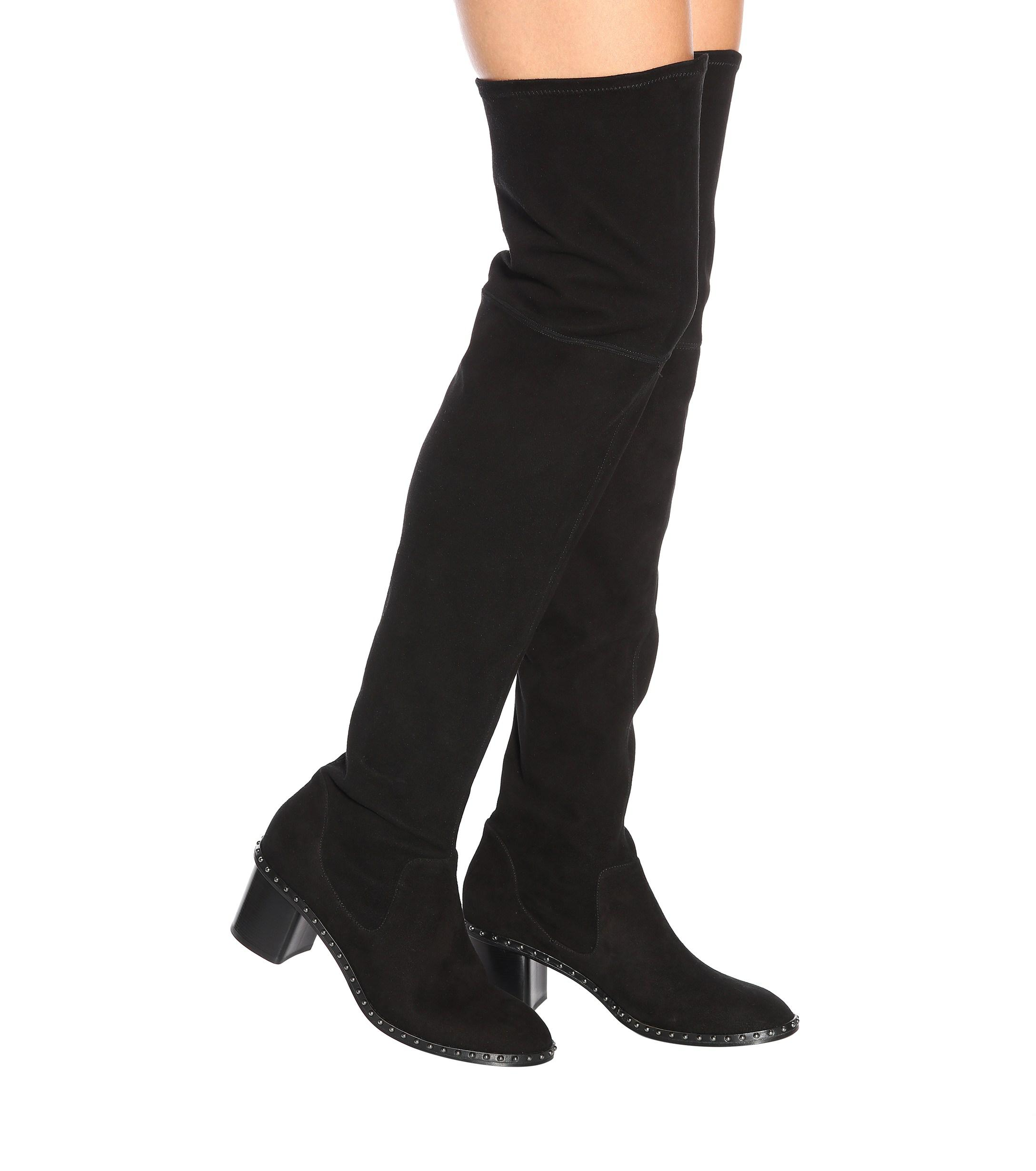 cc3d2bf605b Rag   Bone - Black Rina Suede Over-the-knee Boots - Lyst. View fullscreen