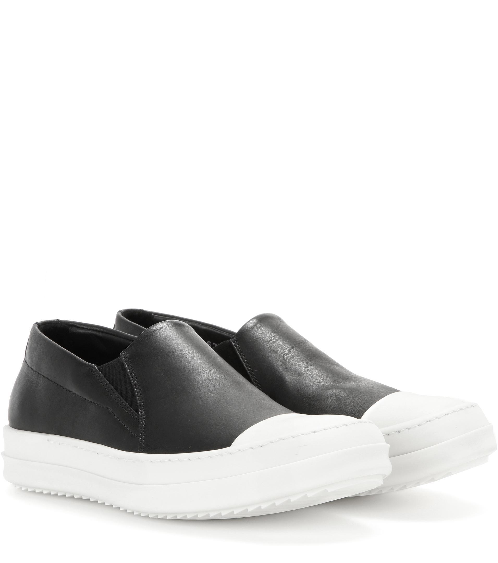 Rick Owens Black Suede Boat Slip-On Sneakers uYDN2Gty4