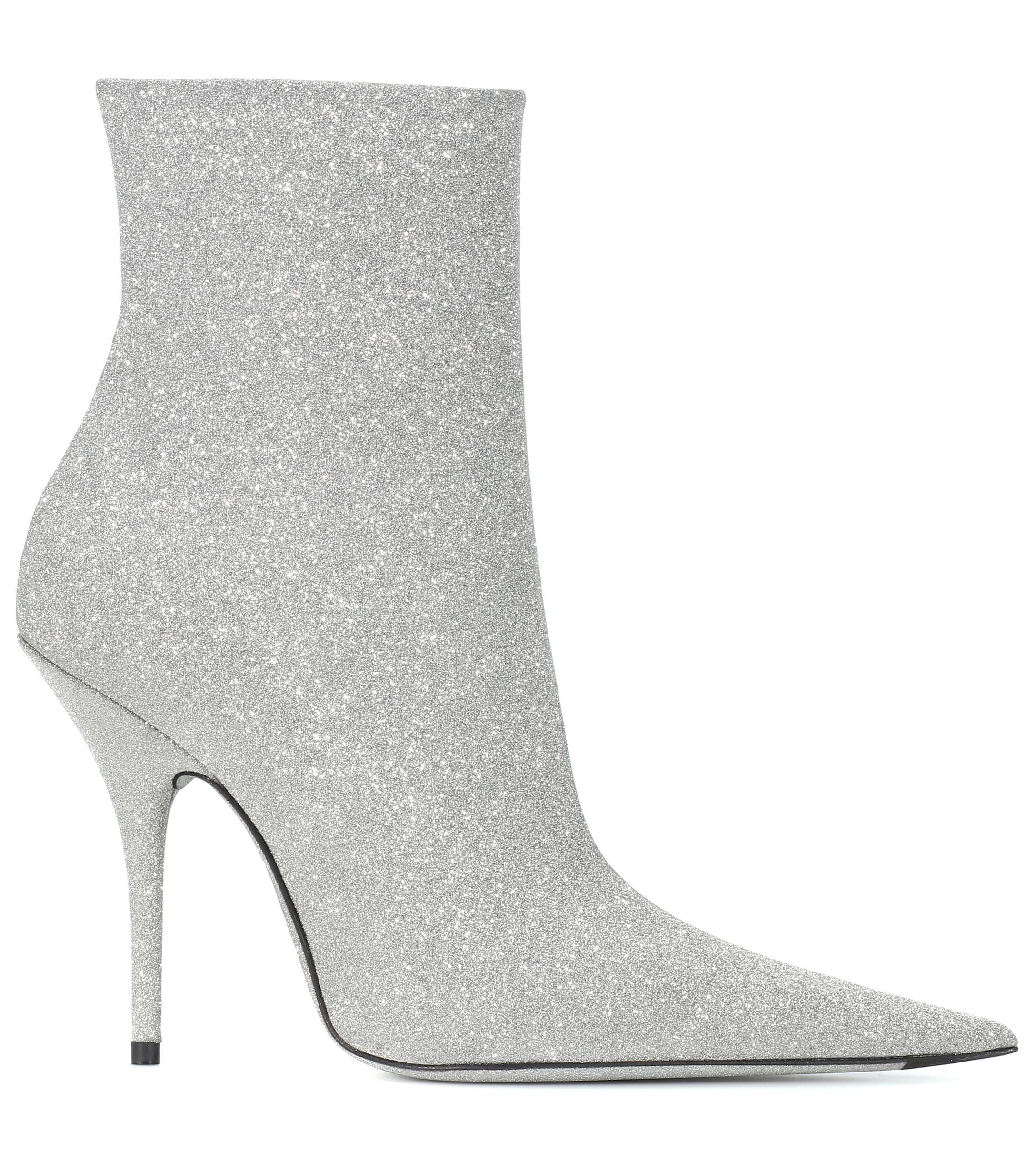 19b55ba628f Women's Metallic Slash Heel Glitter Boots