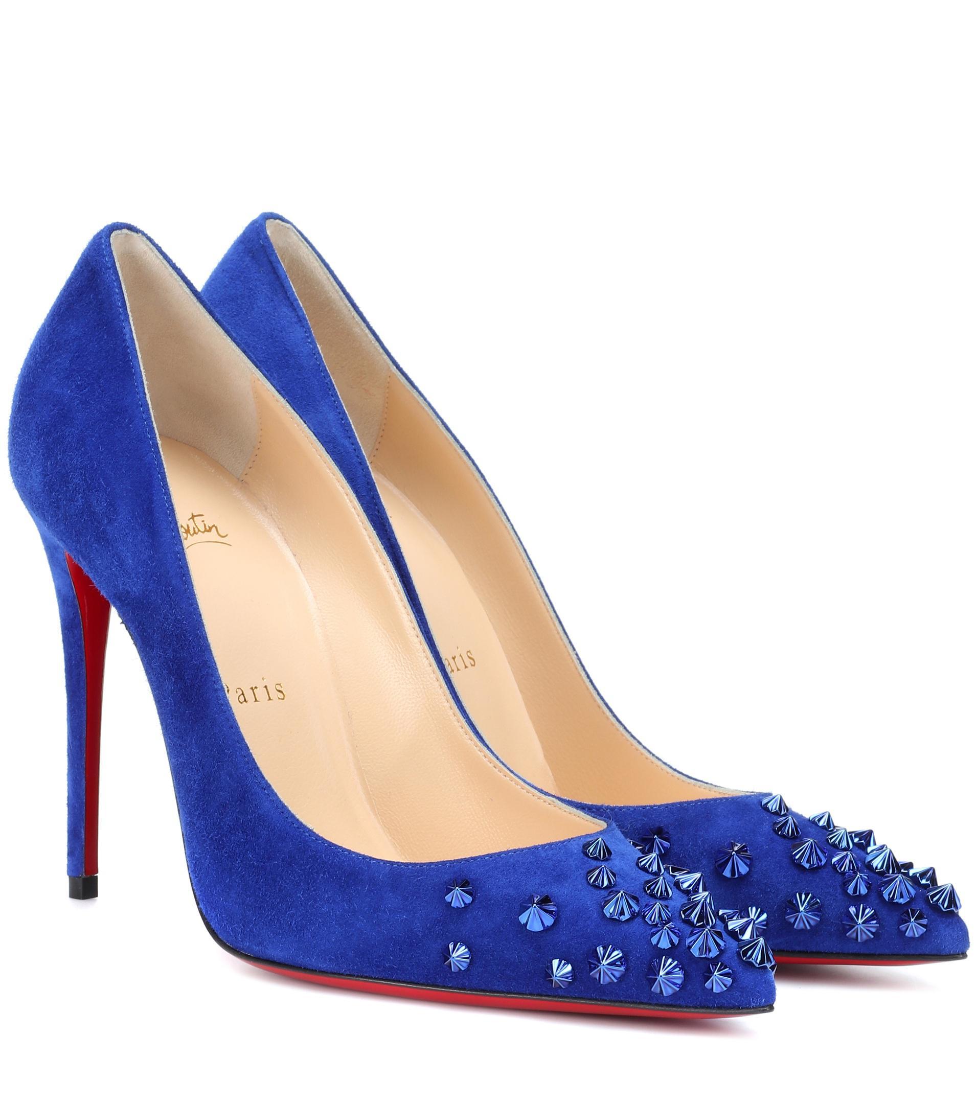 61626050ff4 Women's Blue Drama 100 Suede Pumps