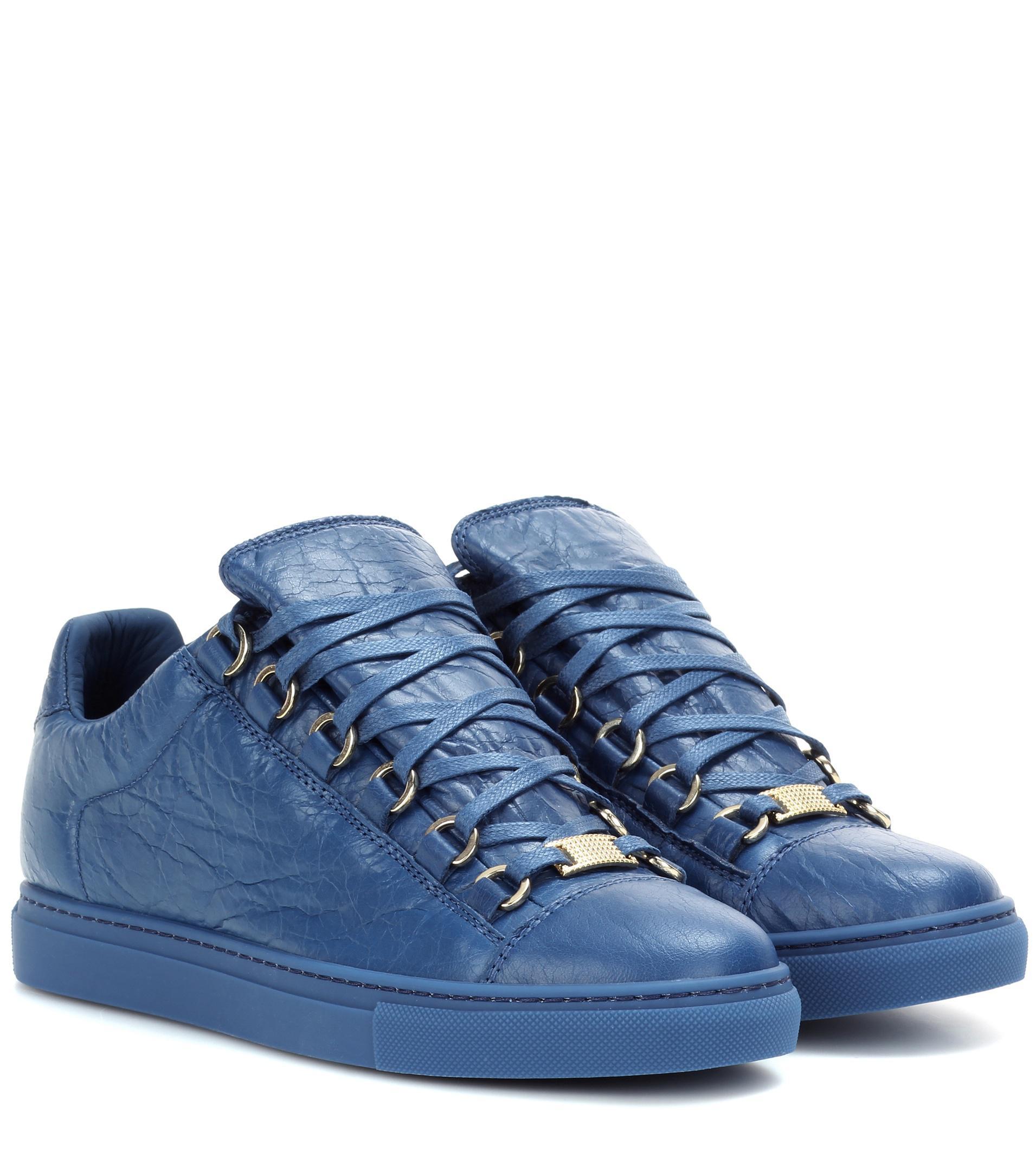 Balenciaga Arena Leather Sneakers in