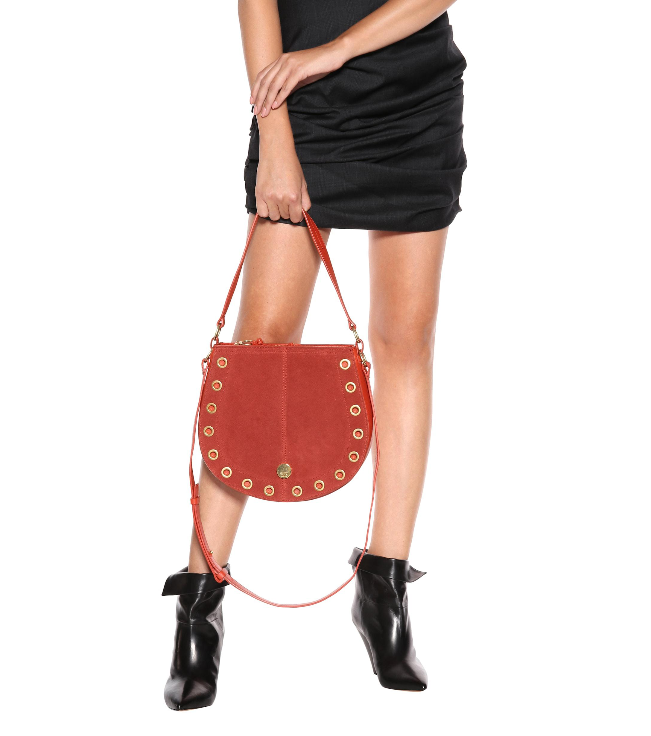 f1937f4d6c See By Chloé Medium Kriss Leather Shoulder Bag in Red - Lyst