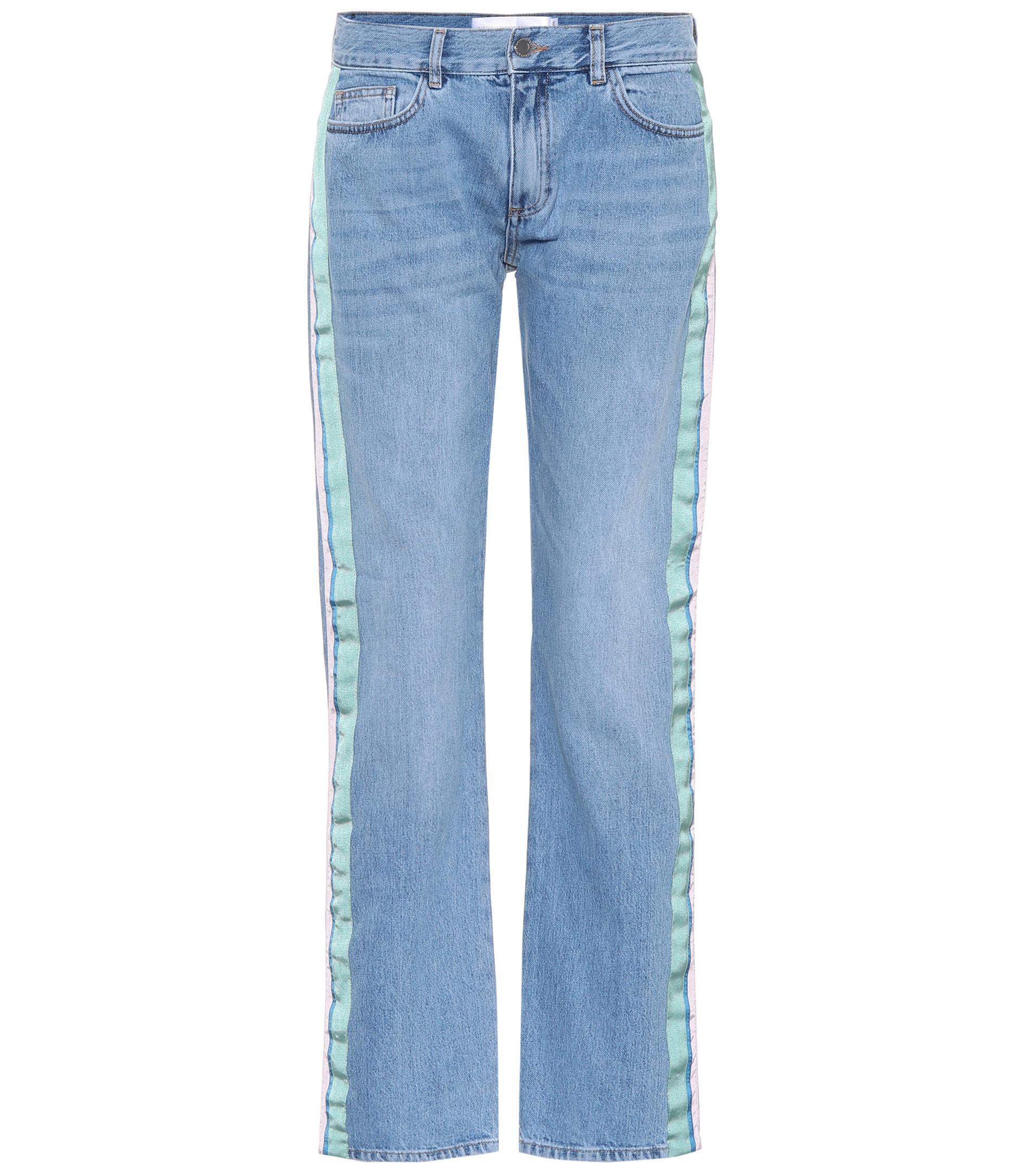 Victoria, Victoria Beckham Woman Faded High-rise Slim-leg Jeans Dark Denim Size 25 Victoria Beckham