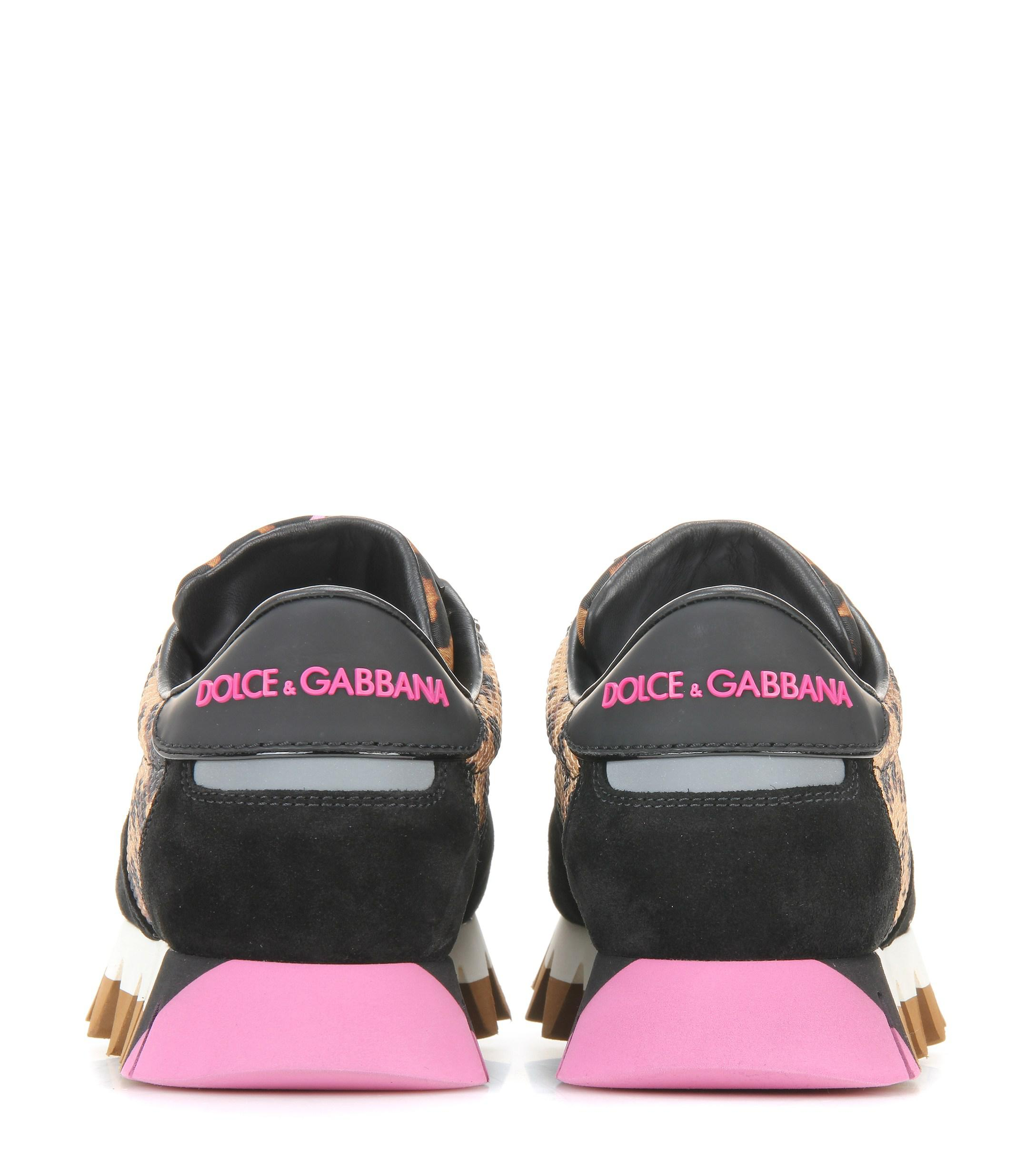 Dolce & Gabbana Fabric And Suede Sneakers