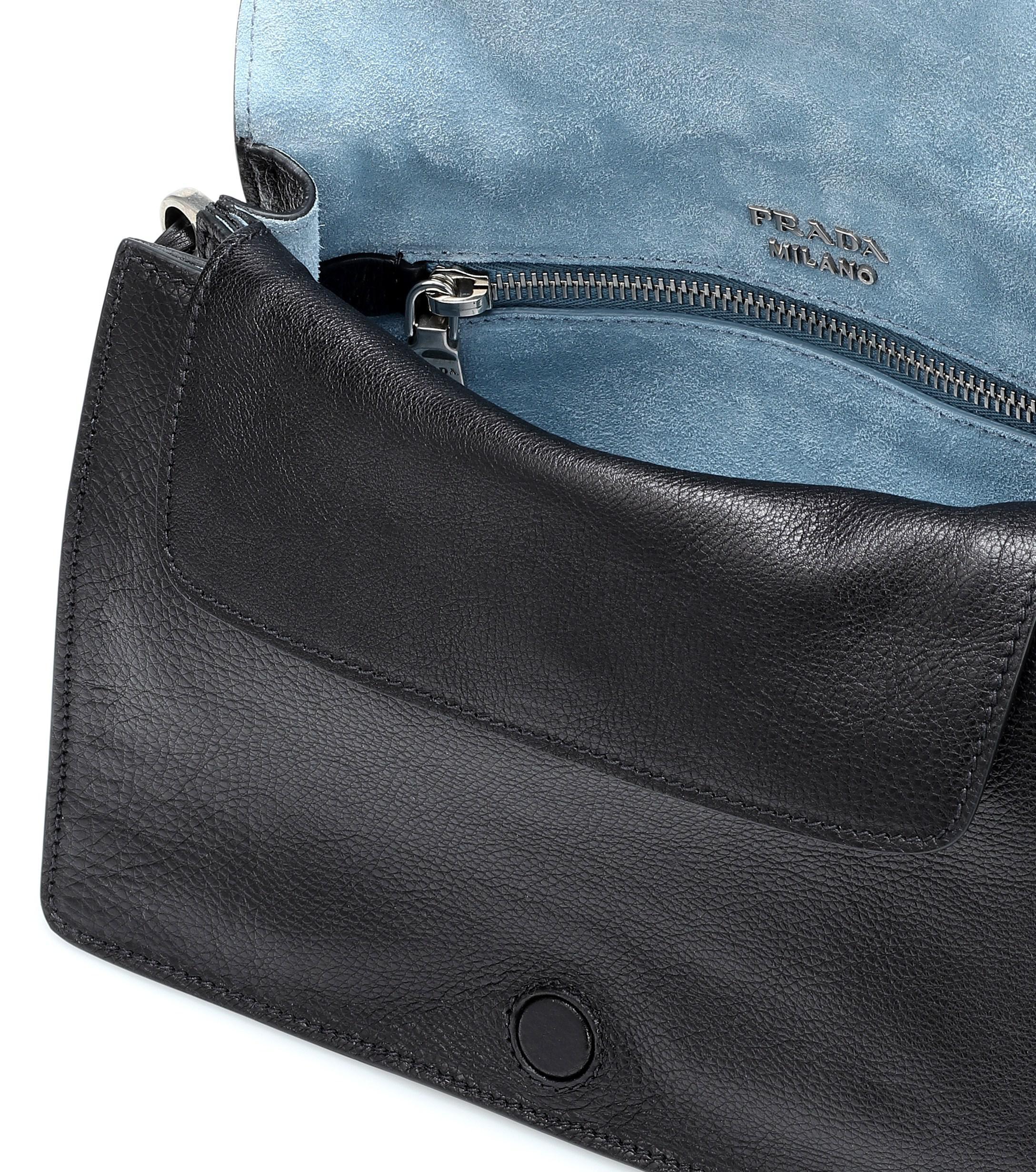 681d363d334d Prada - Black Embellished Leather Shoulder Bag - Lyst. View fullscreen