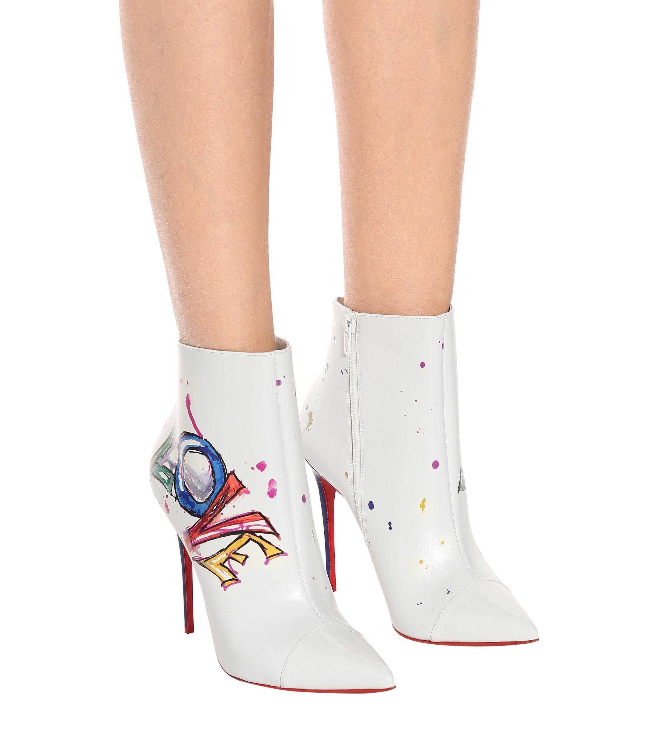 Botines Boot In Love de piel Christian Louboutin de color Blanco