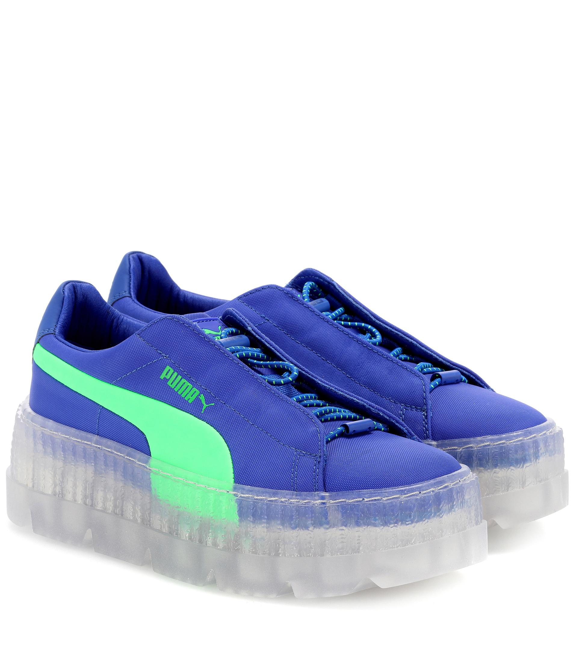outlet store b01a1 df4f2 Women's Blue Clear Creeper Sneakers
