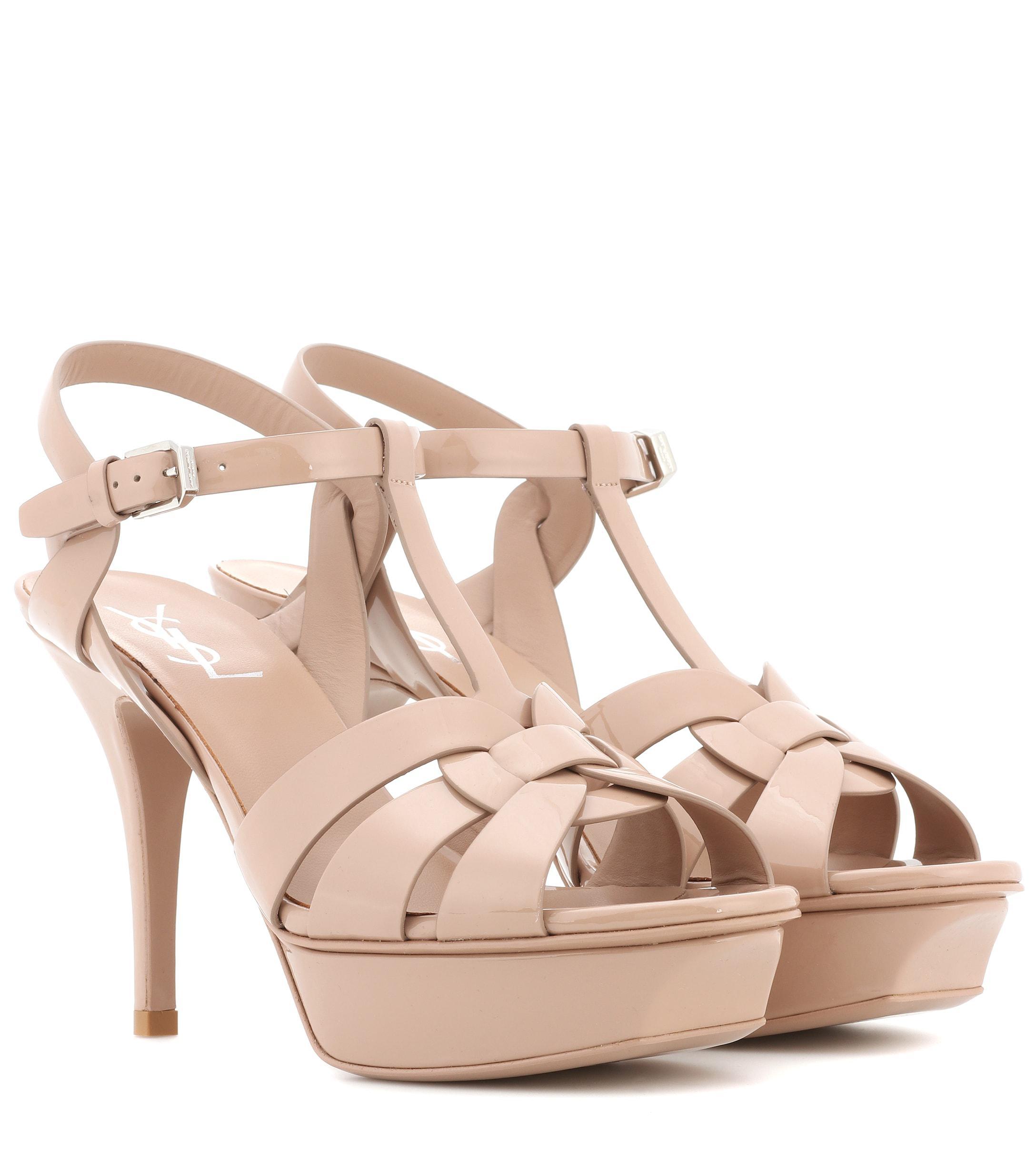 25b985111d72 Saint Laurent. Women s Tribute 75 Patent Leather Sandals