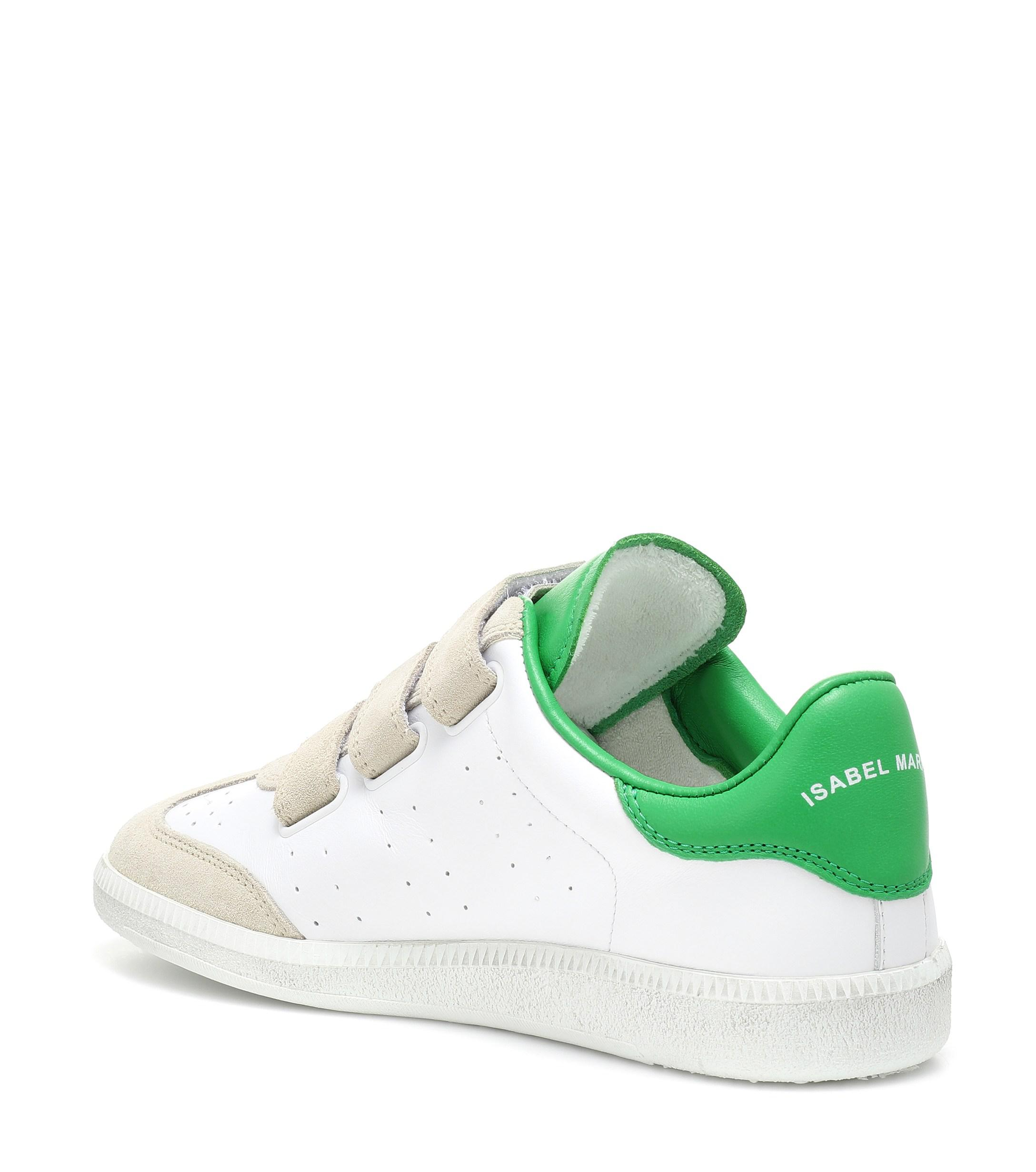Zapatillas Beth de piel y gamuza Isabel Marant de Cuero de color Verde