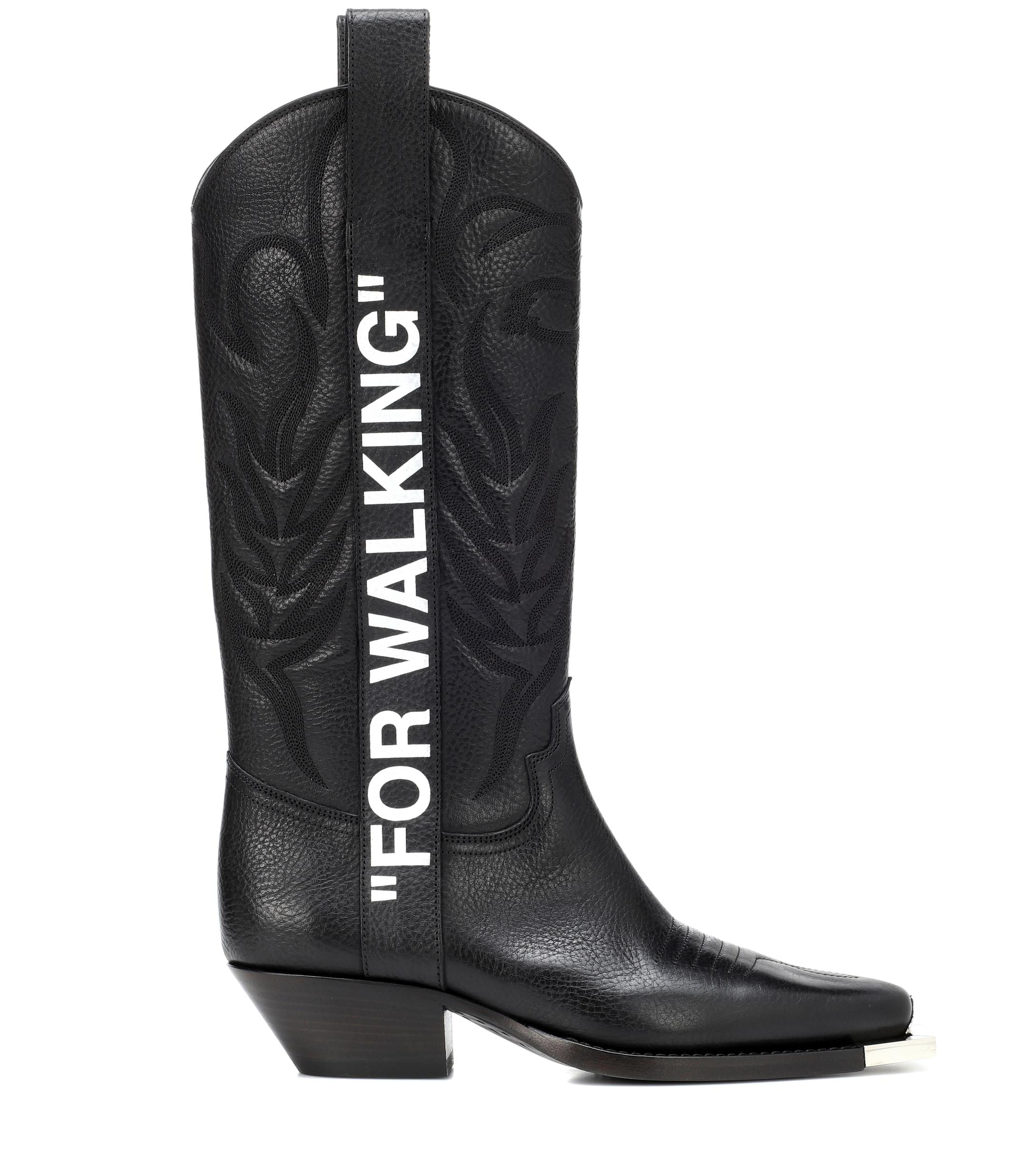 For Walking Cowboy Boots in Black