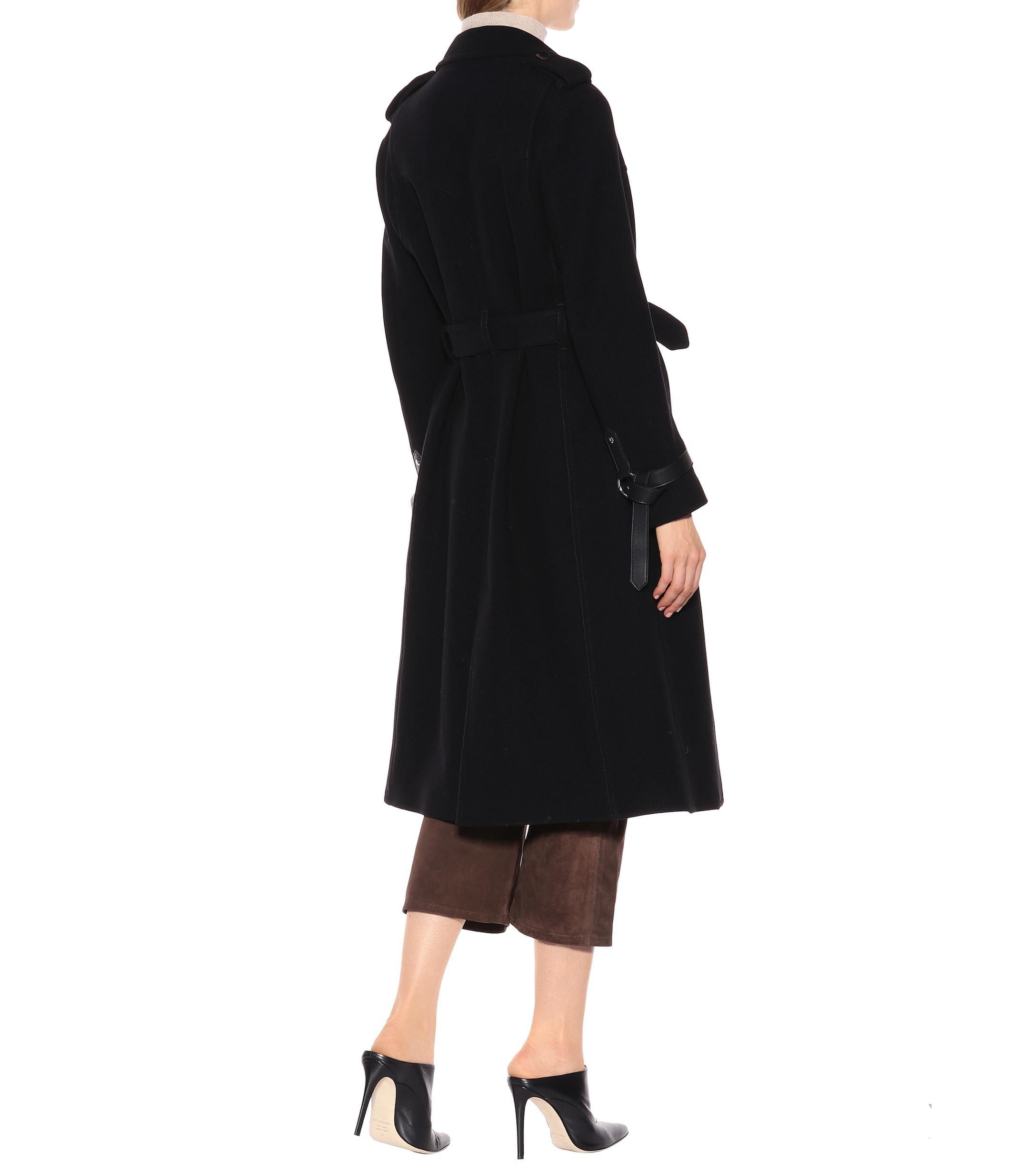 Trench-coat en laine et cachemire mélangés Laines Altuzarra en coloris Noir