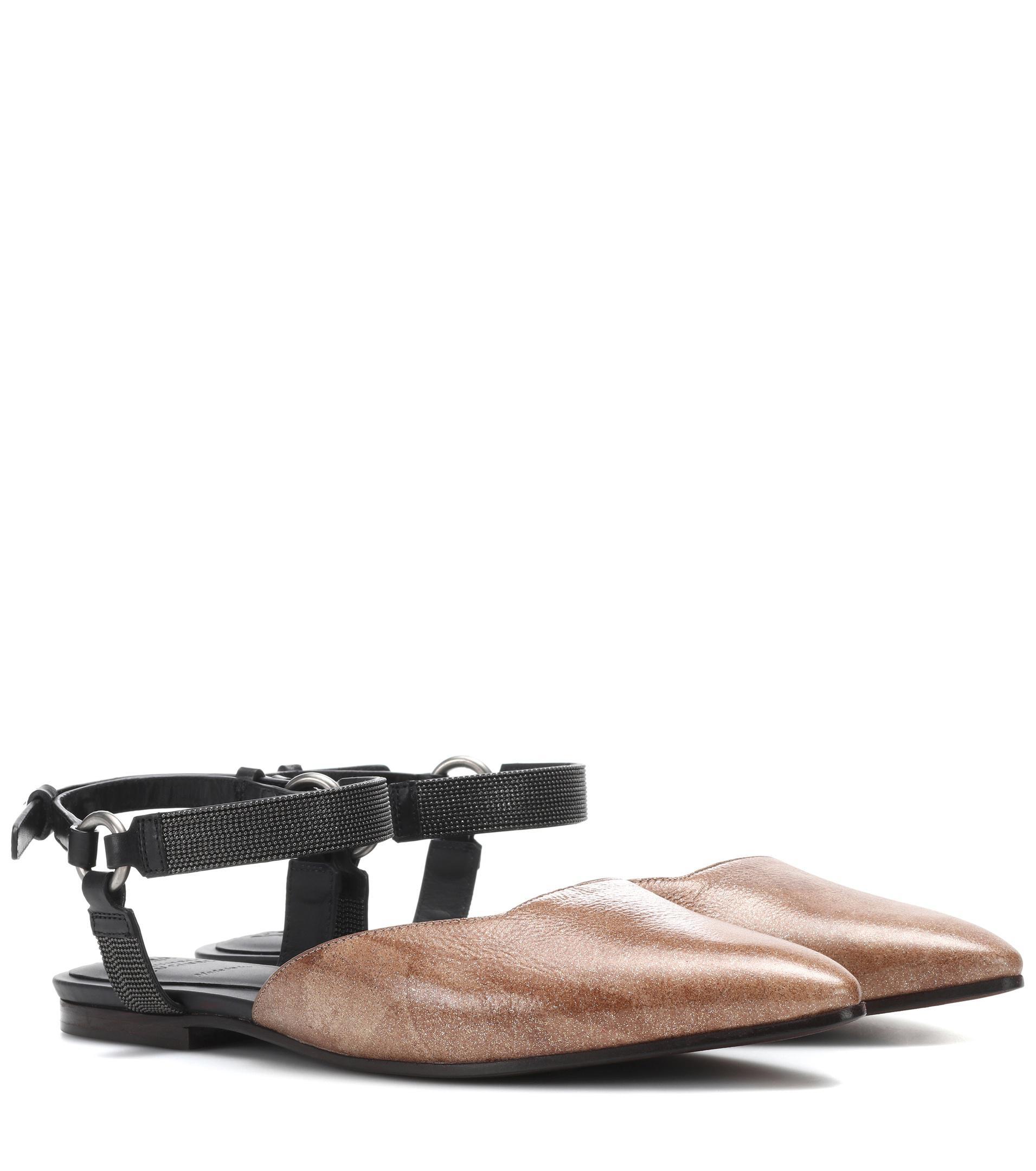 Brunello Cucinelli Leather Sandals AQvpMqr