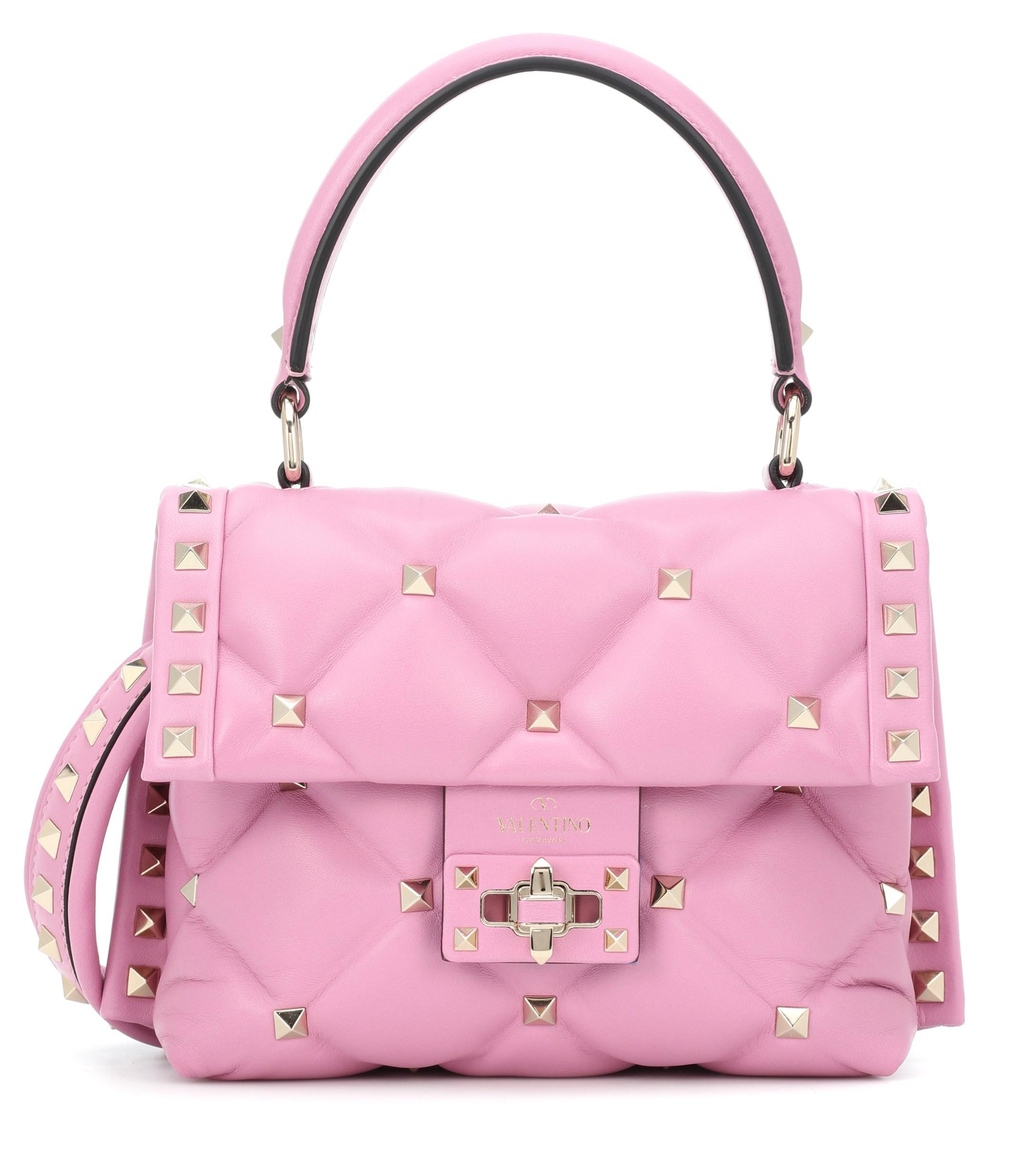 Valentino Piel Rosa Mini Candystud Bolso De Color Lyst Nm0ynwOPv8
