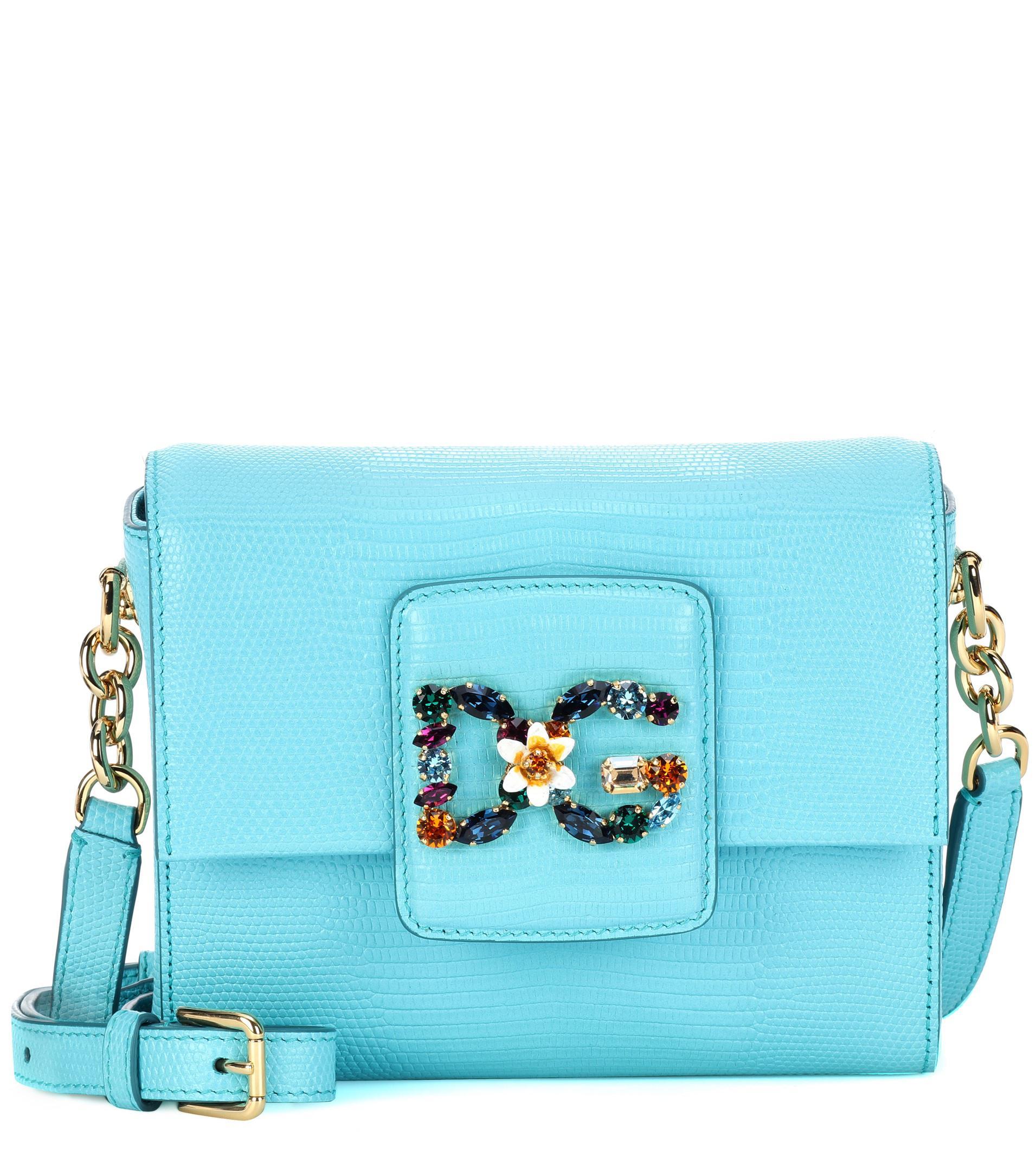 142ba7d21d70 Dolce   Gabbana Dg Millennials Mini Leather Shoulder Bag in Blue - Lyst