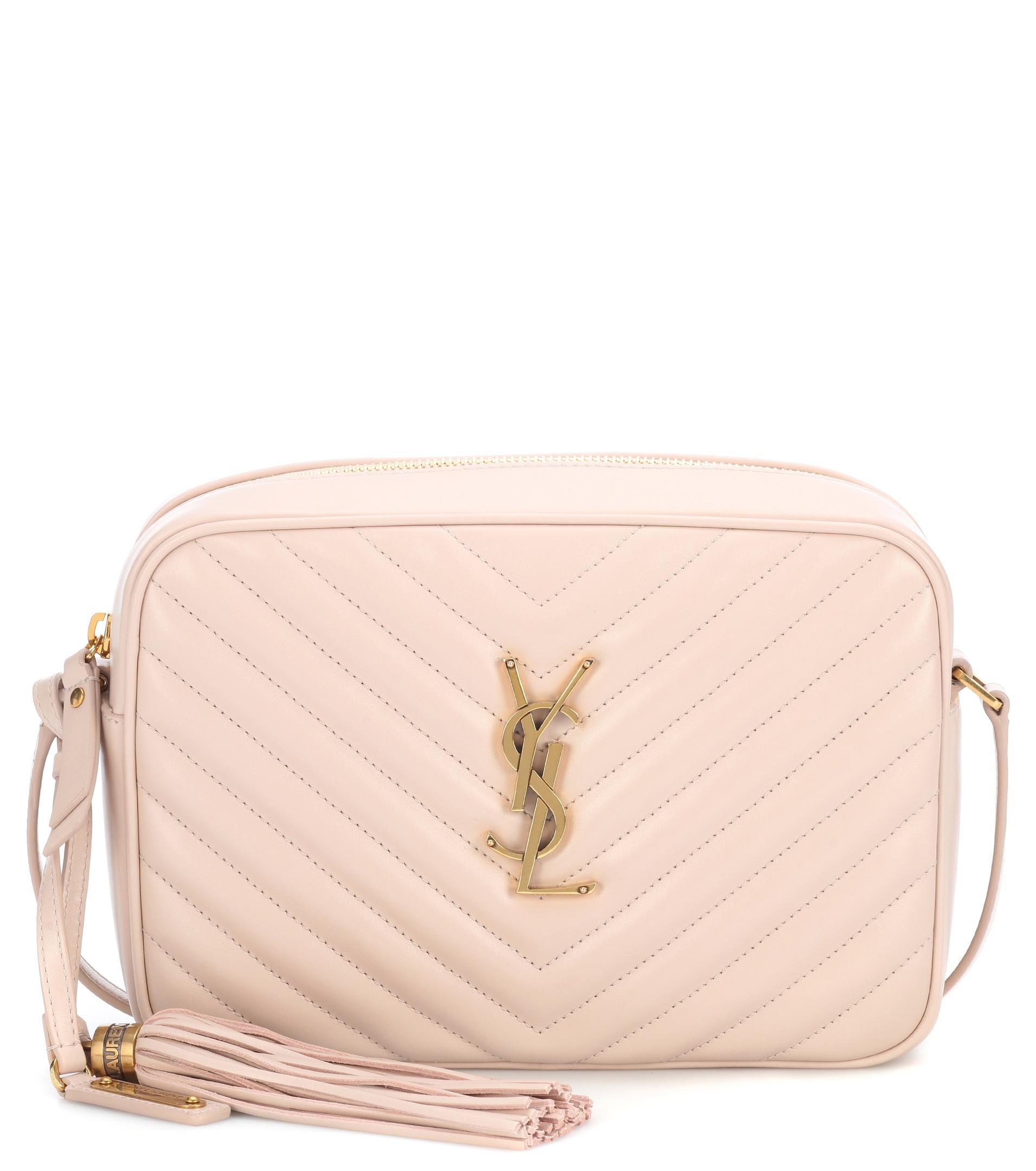 3f0794ad05b Saint Laurent Lou Leather Shoulder Bag in Pink - Lyst
