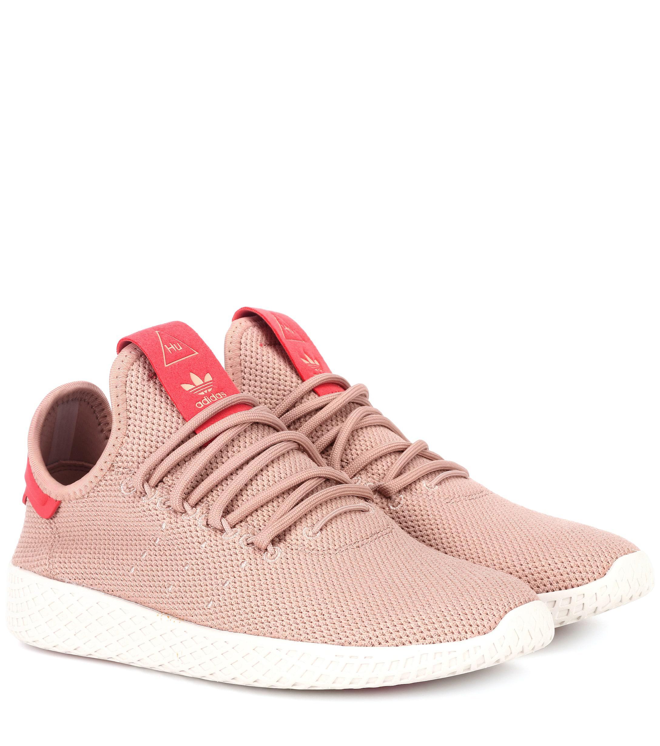 d6a4283de Adidas Originals Pharrell Williams Tennis Hu Sneakers in Pink - Lyst