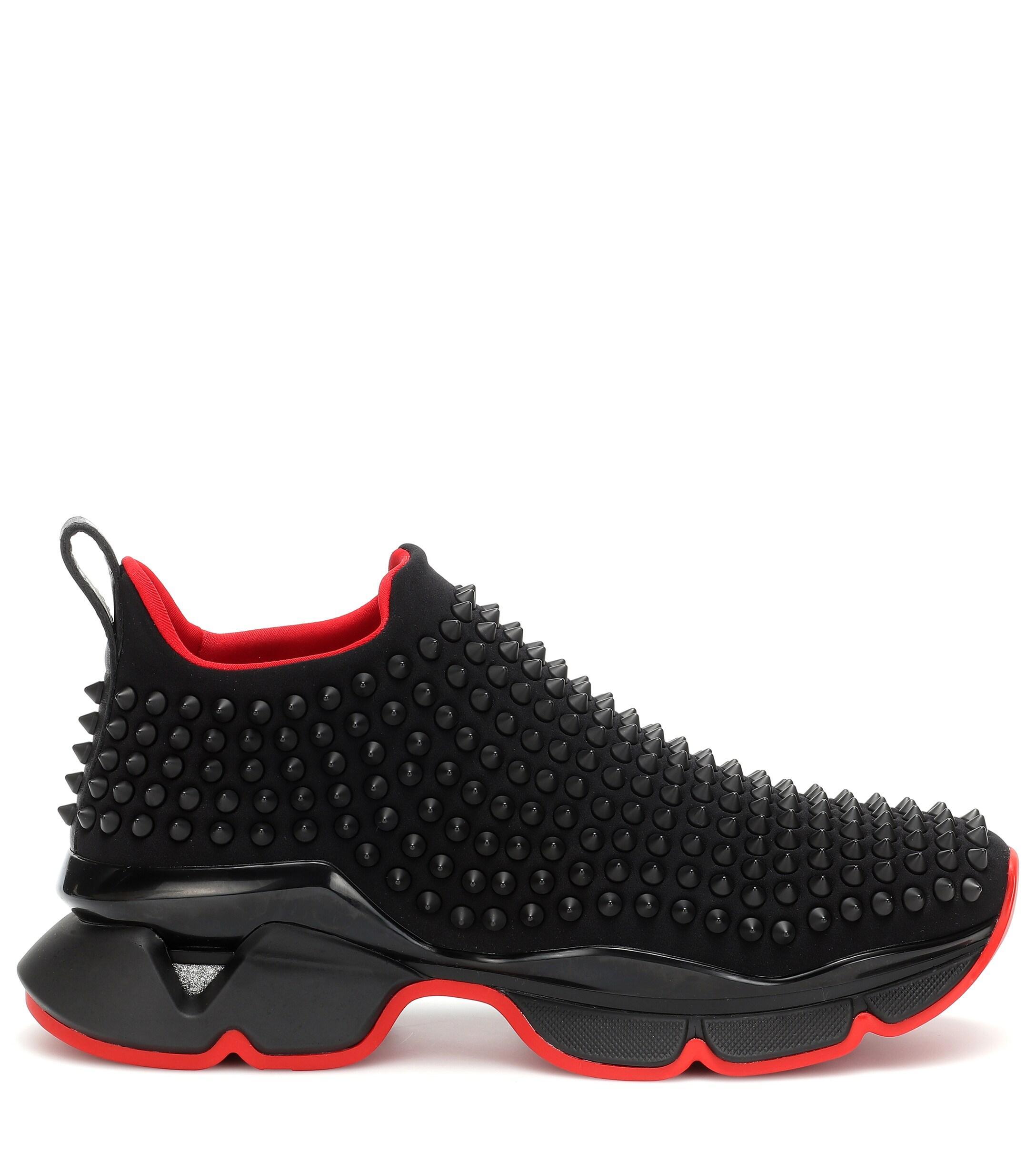 Christian Louboutin Spike Sock Sneakers