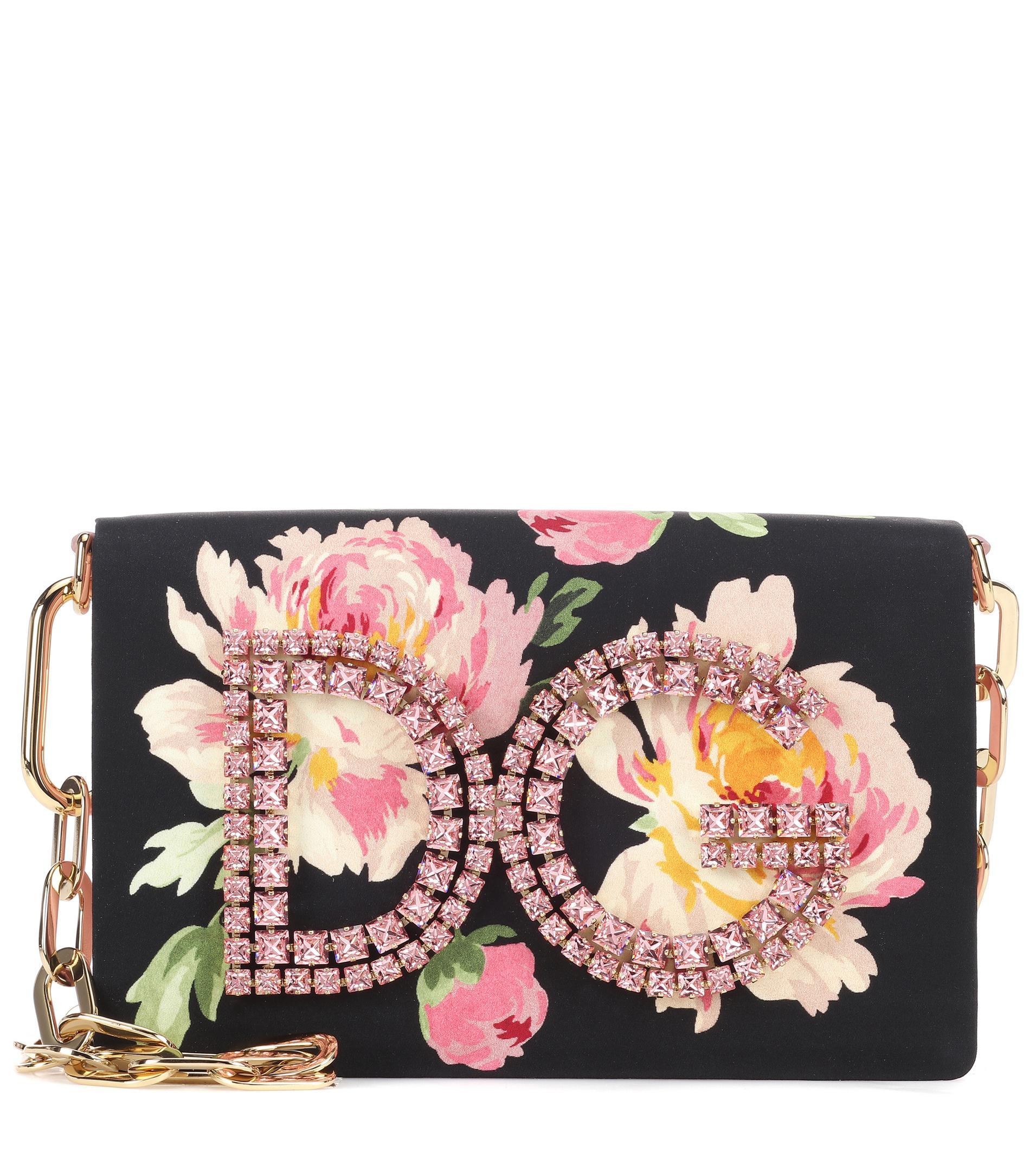66f7c607c15 ... Sicily and Minis  finest selection 29a92 97192 Dolce Gabbana - Pink Dg  Girls Embellished Shoulder Bag - Lyst ...