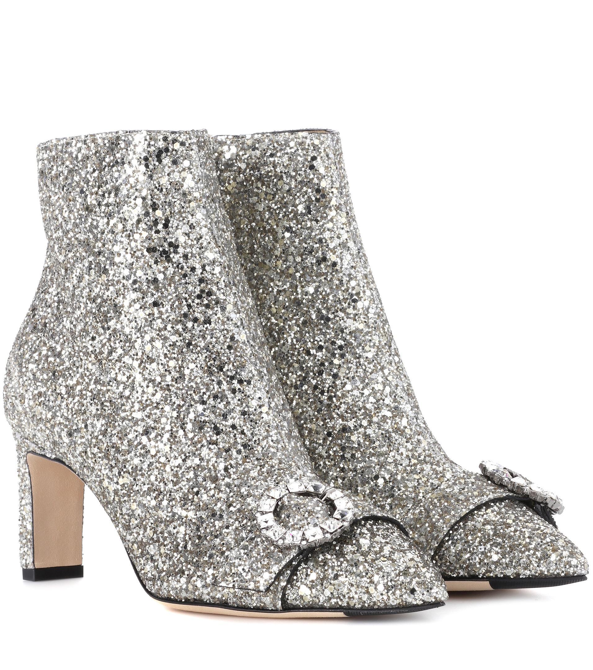 d9c7b4652b1 Boots Ankle 65 Choo Lyst Hanover Jimmy Glitter In Metallic wI7vXcxgq