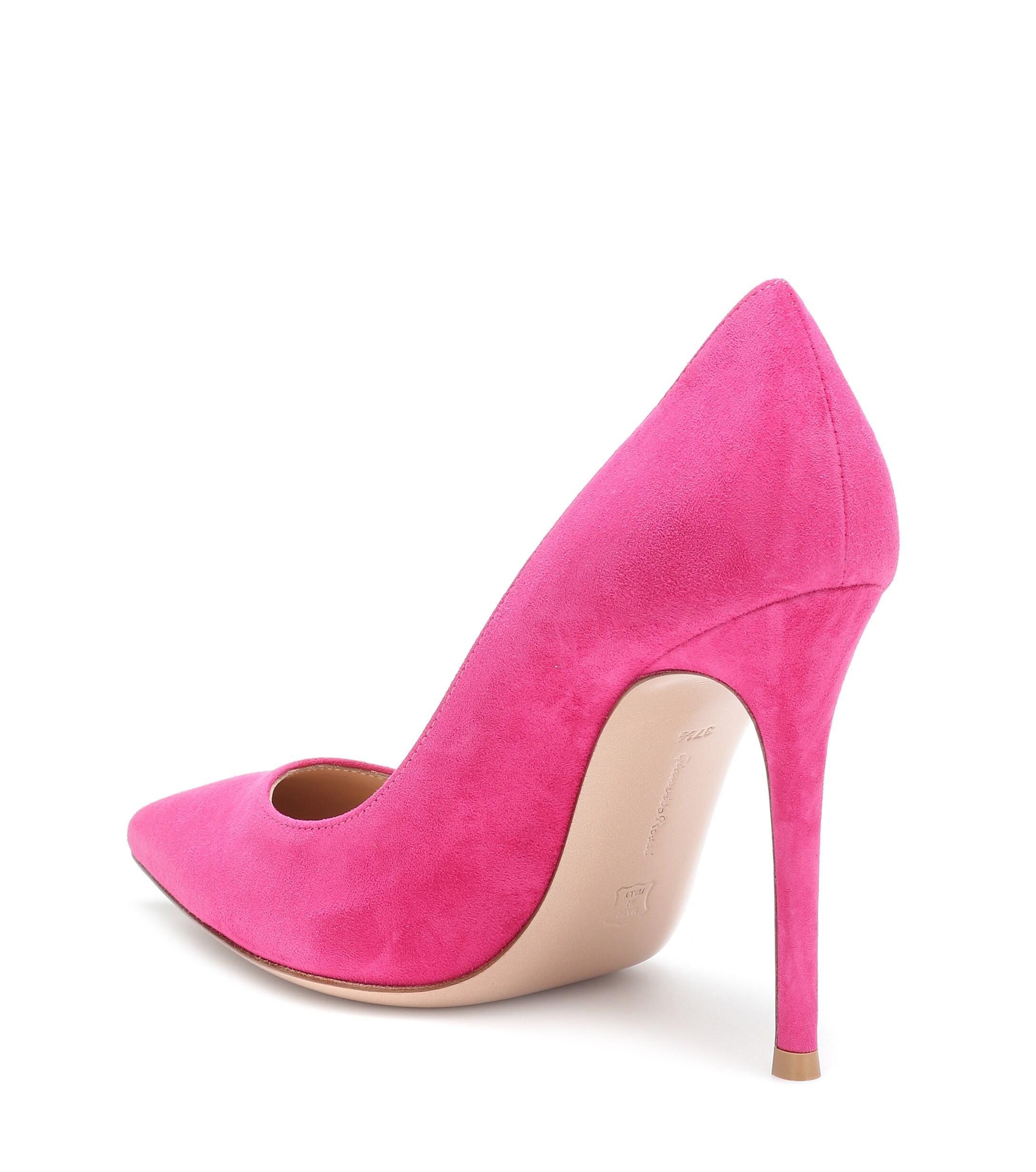 Salones Gianvito 105 de gamuza Gianvito Rossi de Ante de color Rosa