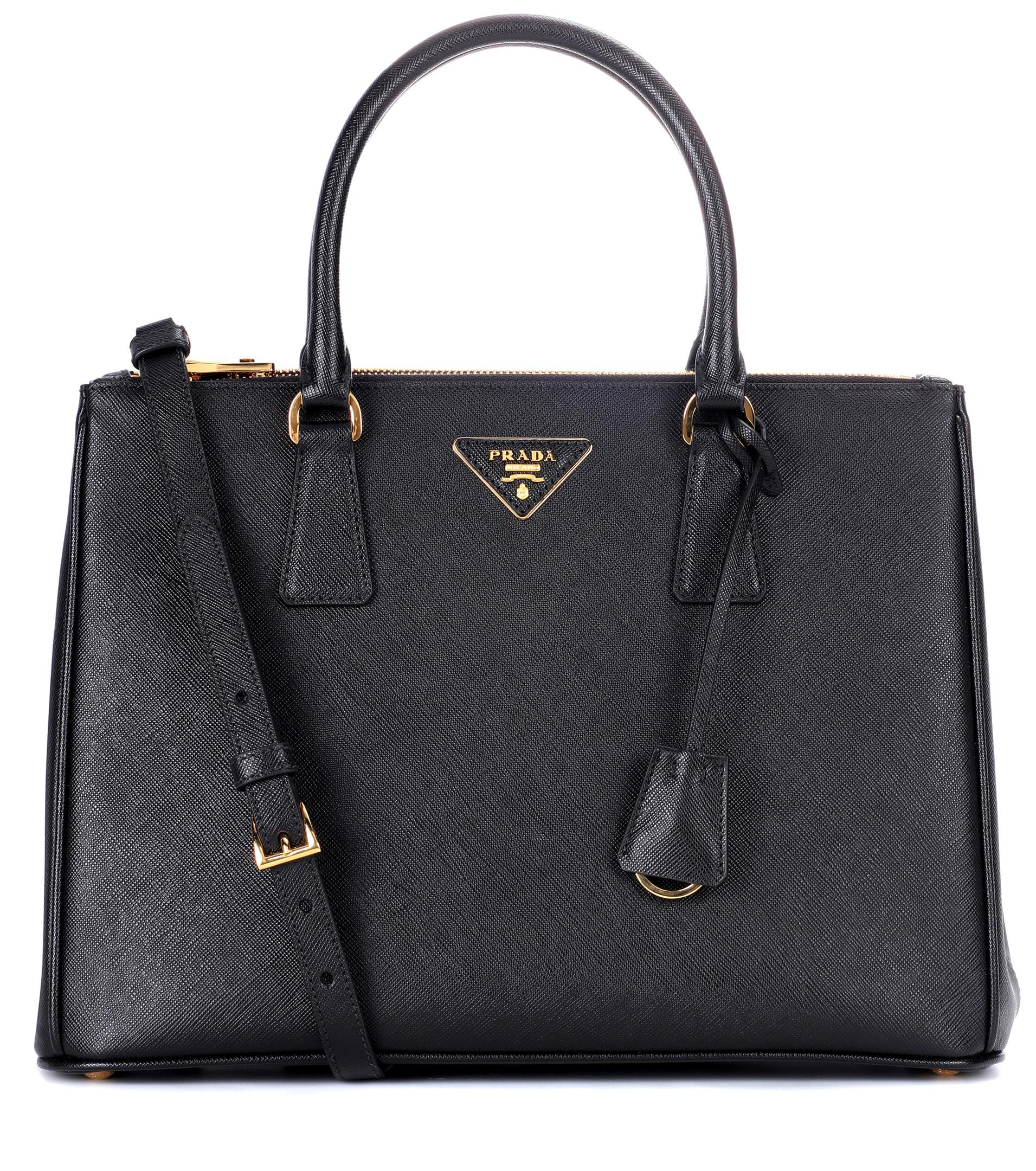 2b6f177ef165a8 Prada Galleria Saffiano Leather Tote in Black - Lyst