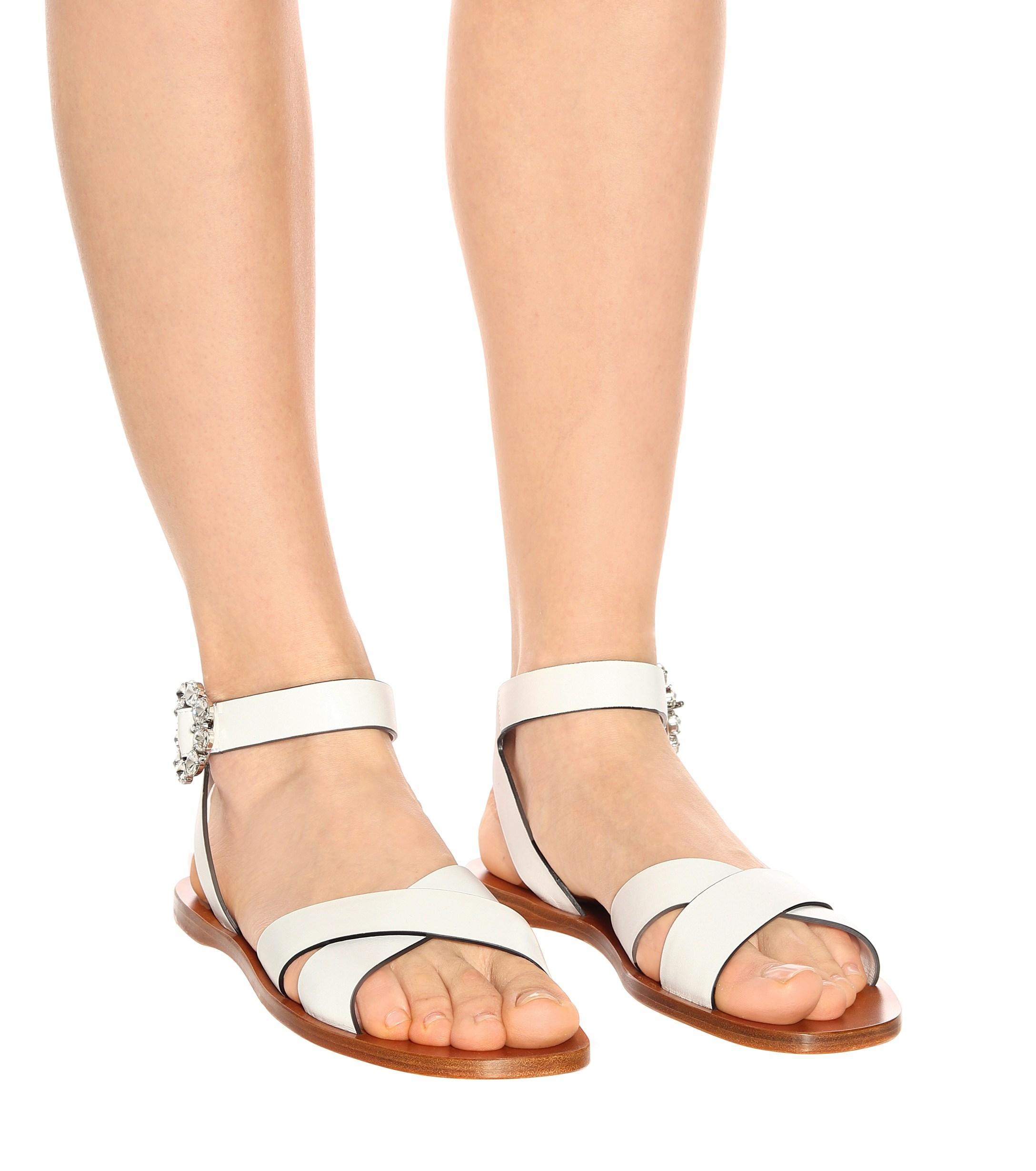 Sandales en cuir en Cuir Miu Miu