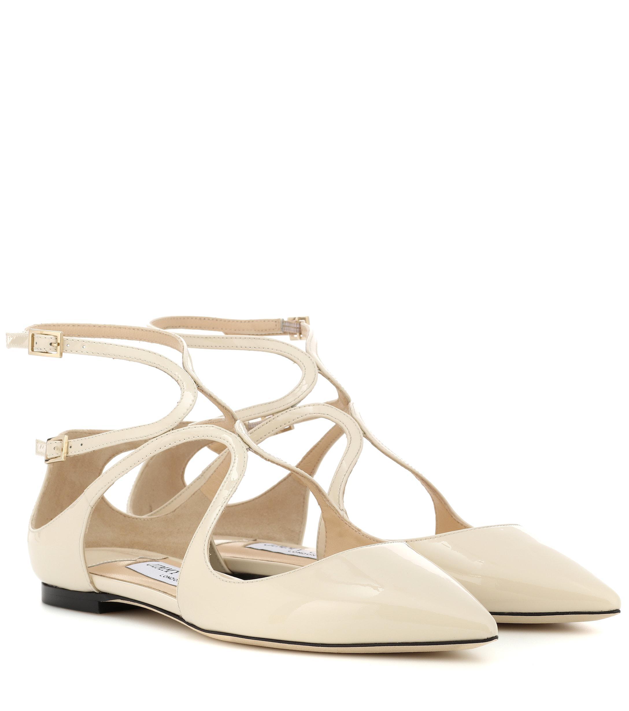 Jimmy Choo Lancer Patent Leather Ballet Flats Lyst