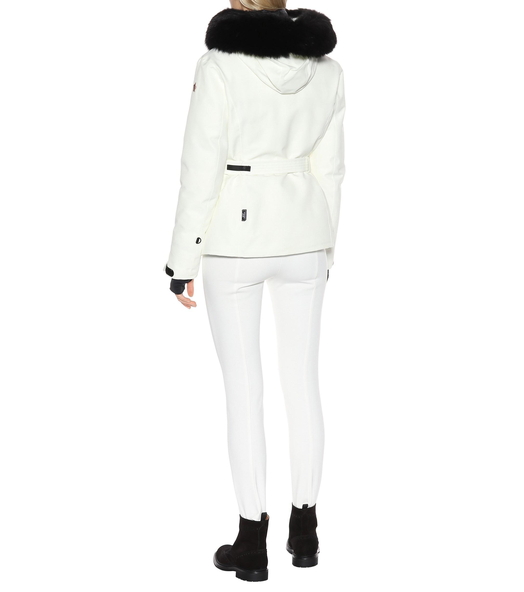 Women's White Laplance Down Ski Jacket