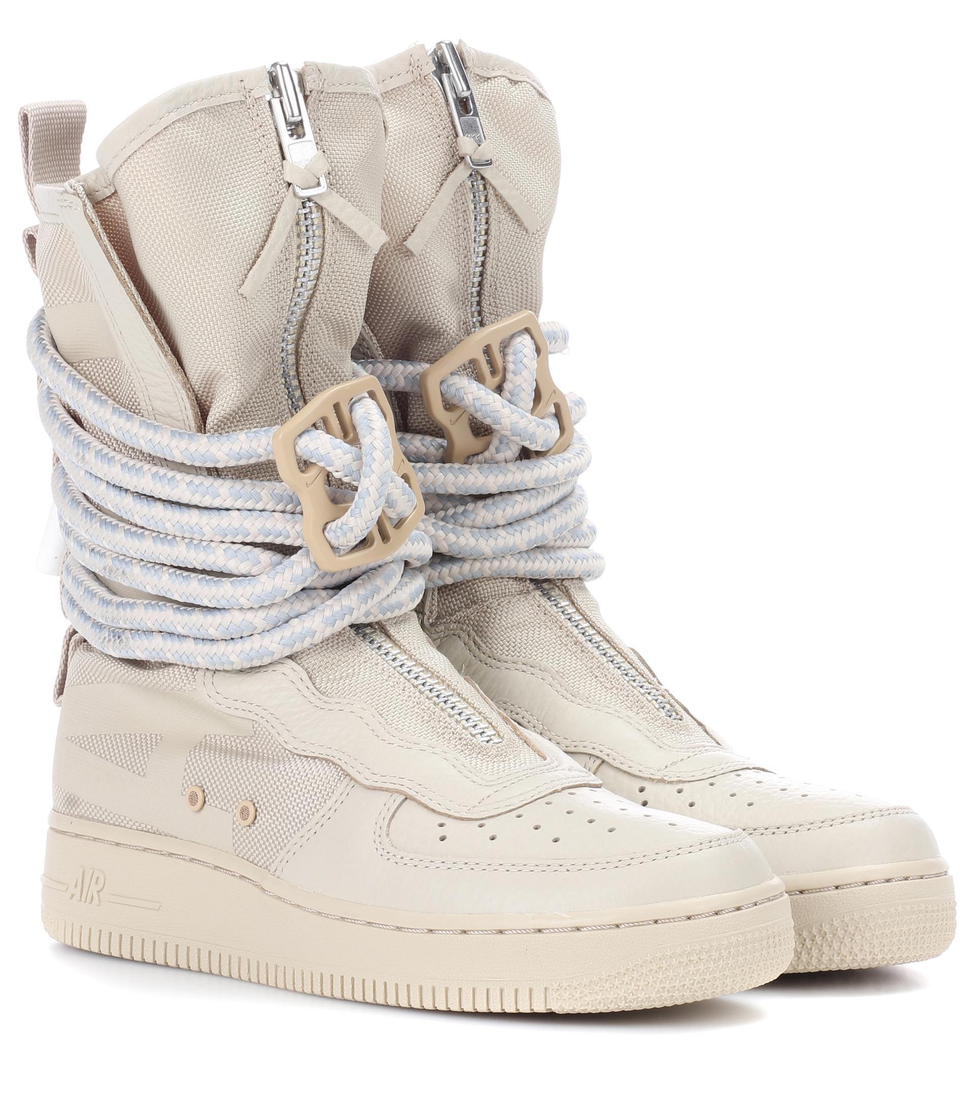 Sf Lyst Nike Air Force Natural 1 Botas De Cuero Natural Force 677f4d