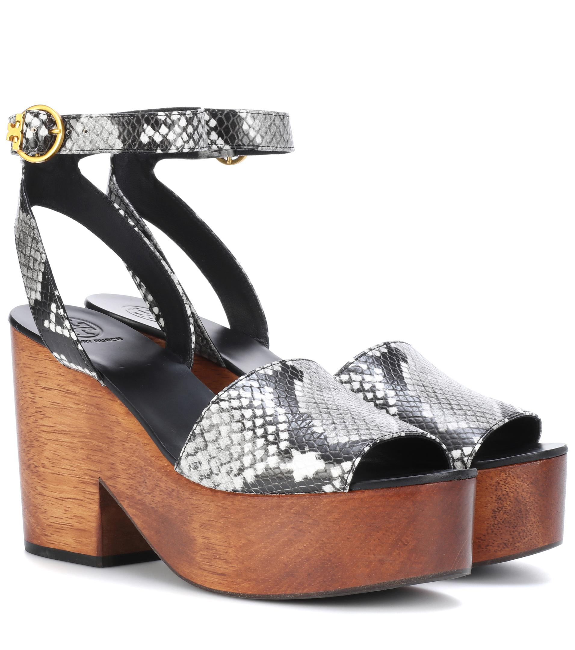 09769807423d09 Tory Burch Camilla Leather Sandals in Black - Lyst