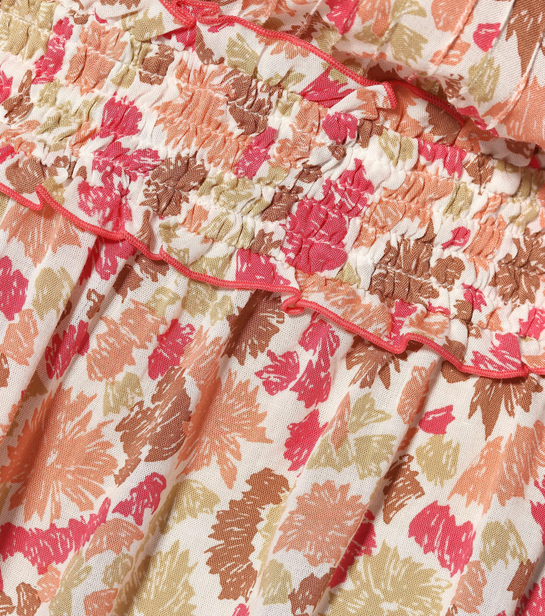 Vestido corto Ilona estampado Poupette de color Rosa
