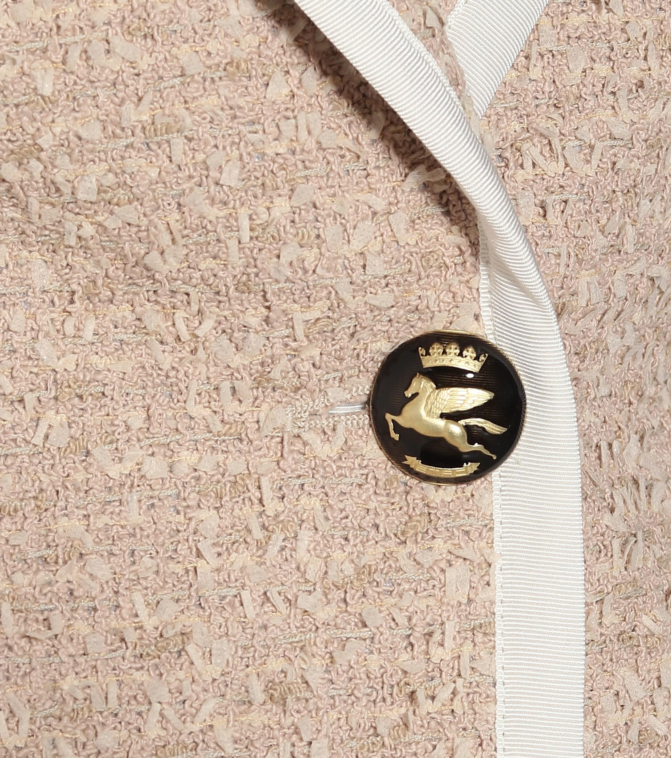 Blazer en tweed de coton mélangé Etro en coloris Neutre