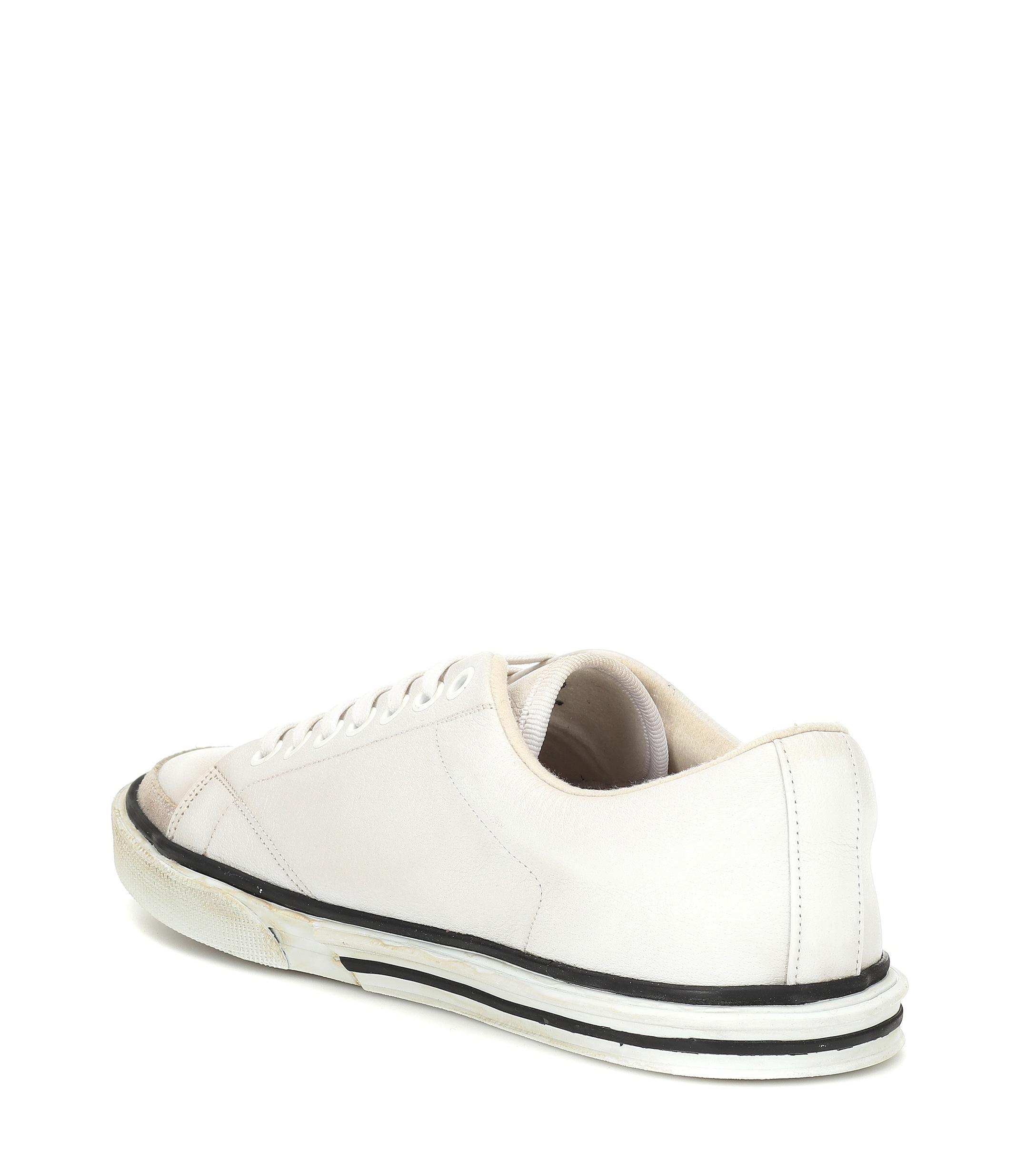 Zapatillas Match de piel Balenciaga de Cuero de color Blanco