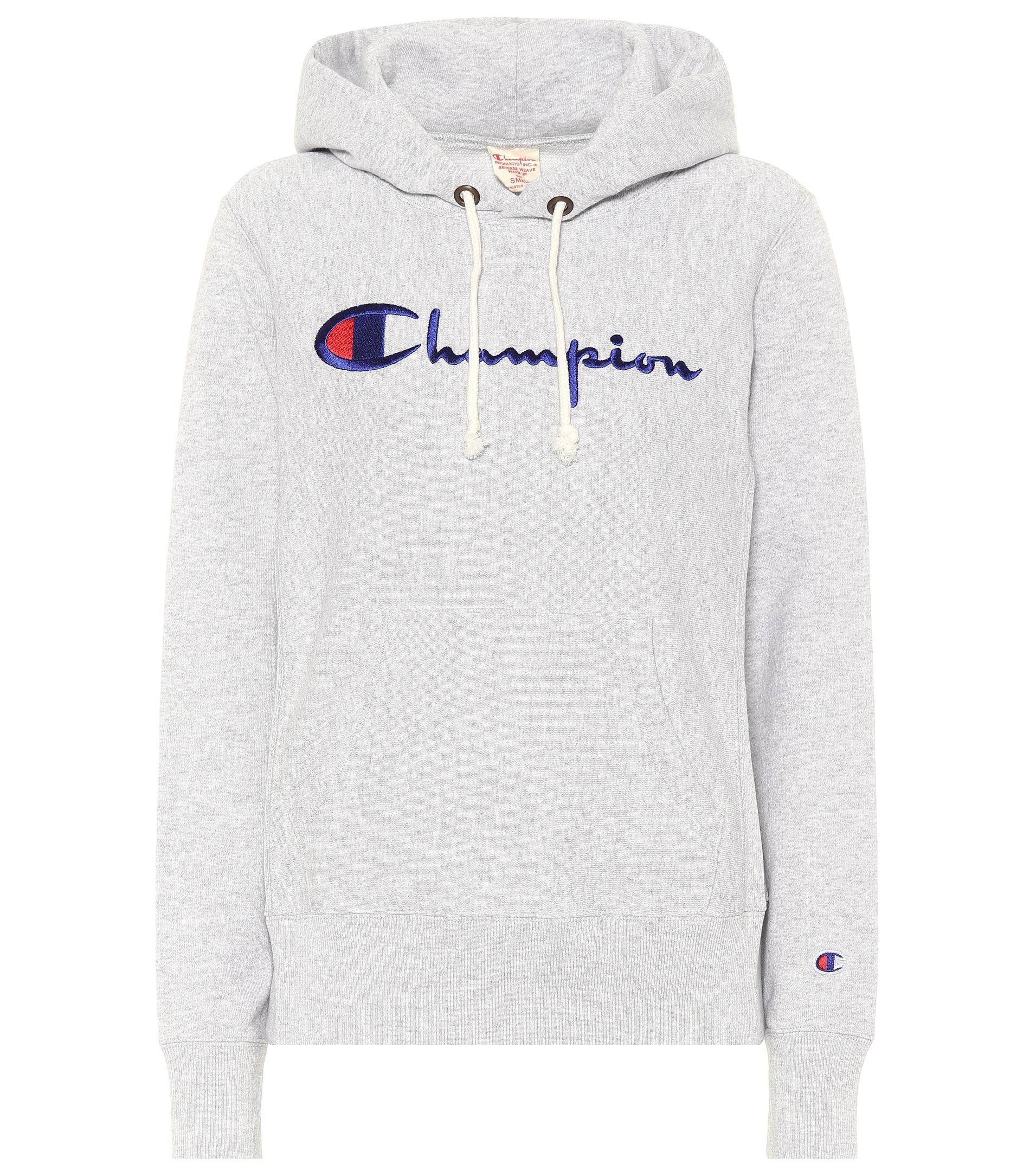 Champion Sweat-shirt à capuche en coton mélangé 7xOL3HX8u6