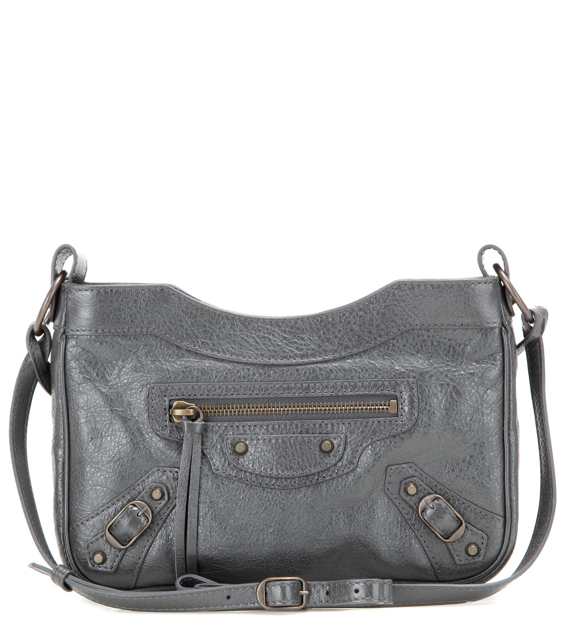 c7b6407b14 Balenciaga Classic Hip Leather Shoulder Bag in Gray - Lyst
