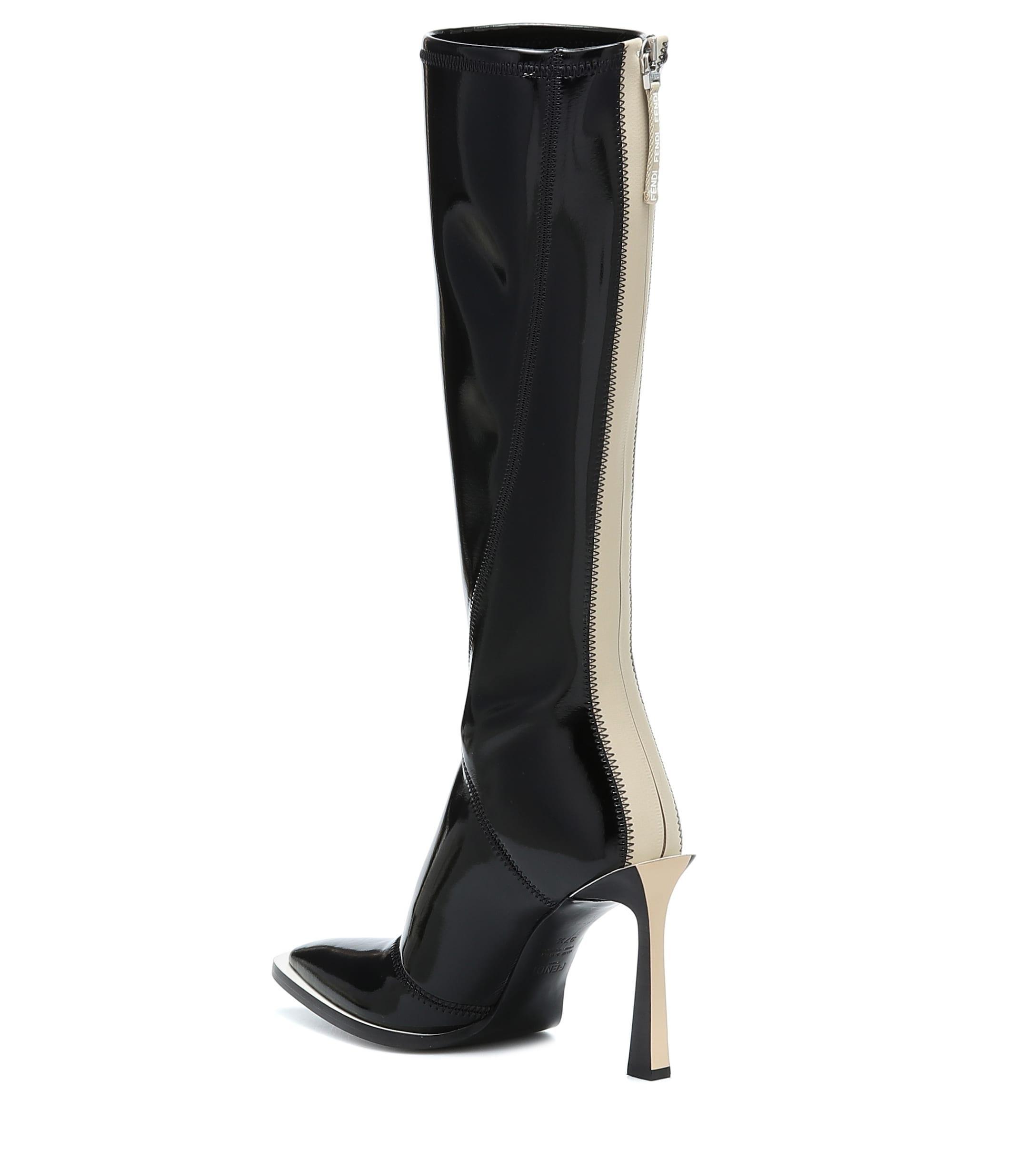 Botas altas FFrame de neopreno Fendi de Neopreno de color Negro
