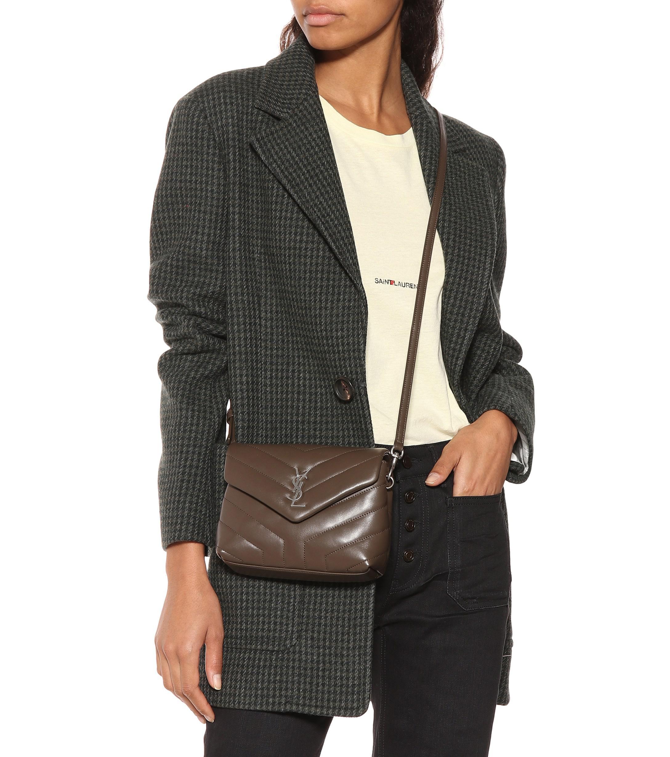 75c9ac6e4b6 Saint Laurent - Brown Toy Loulou Leather Shoulder Bag - Lyst. View  fullscreen