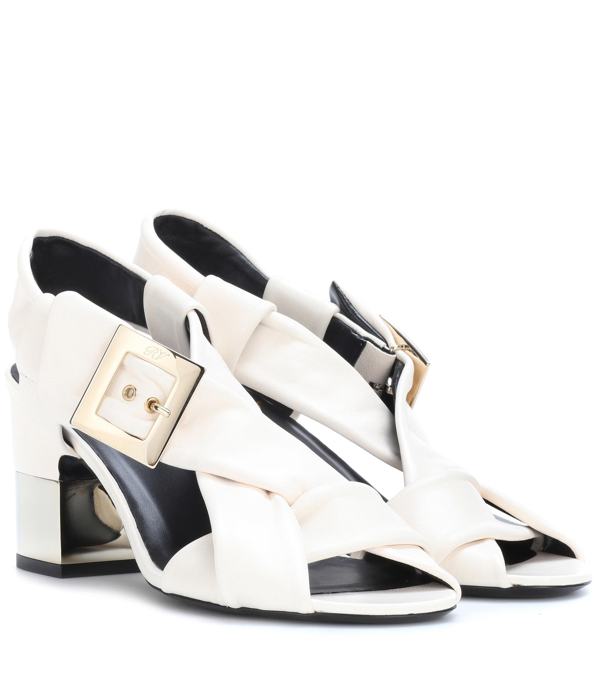 Roger Vivier Podium leather sandals PdBXxhymxh