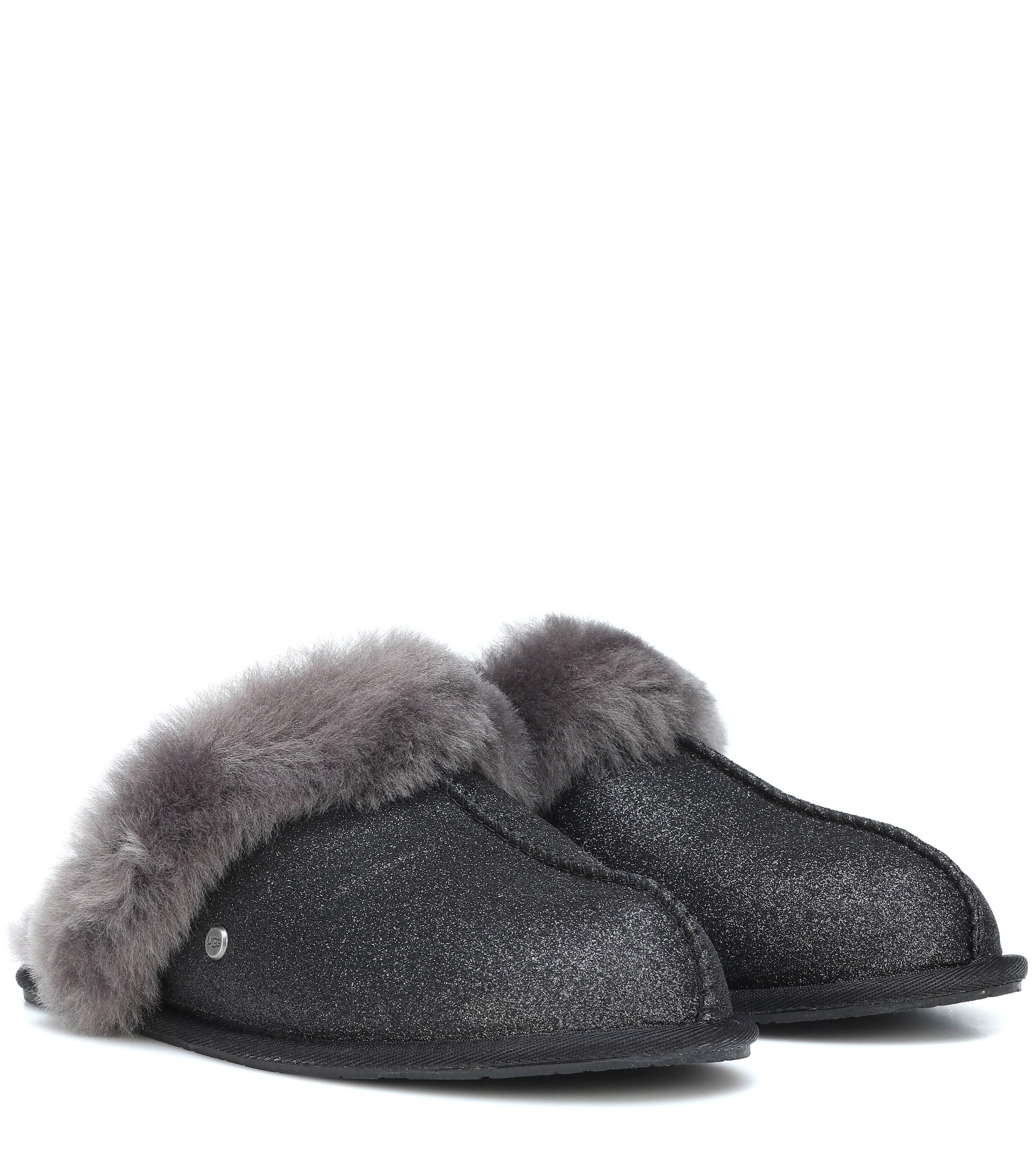 b1ceb8c27a1 Lyst - UGG Scuffette Ii Sparkle Wool Slippers in Black