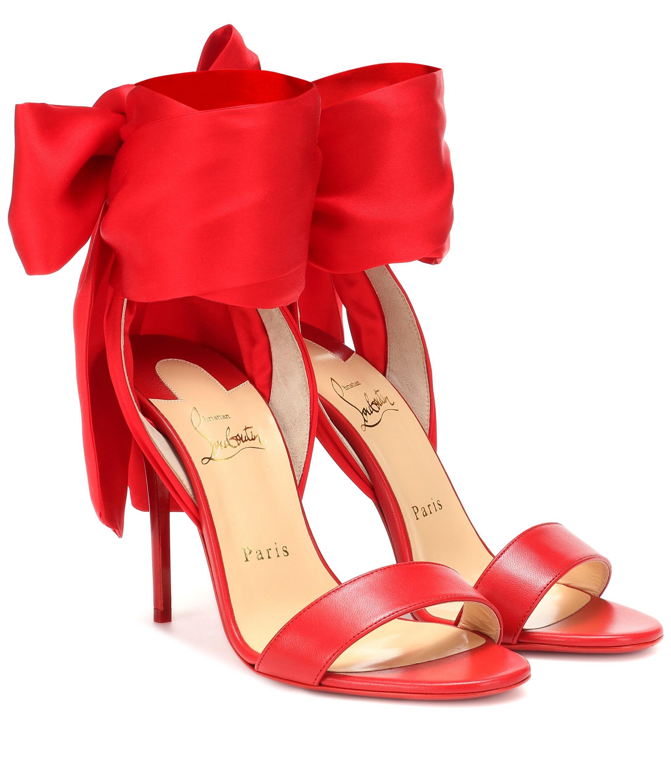 6773546e47a8 Lyst - Christian Louboutin Sandale Du Désert 100 Sandals in Red