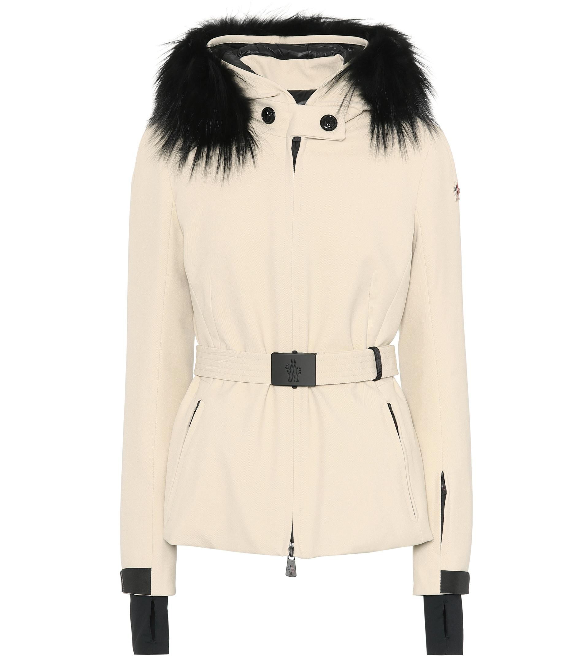 Moncler Ivory PolyesterDown and Fox Fur Trim Hooded